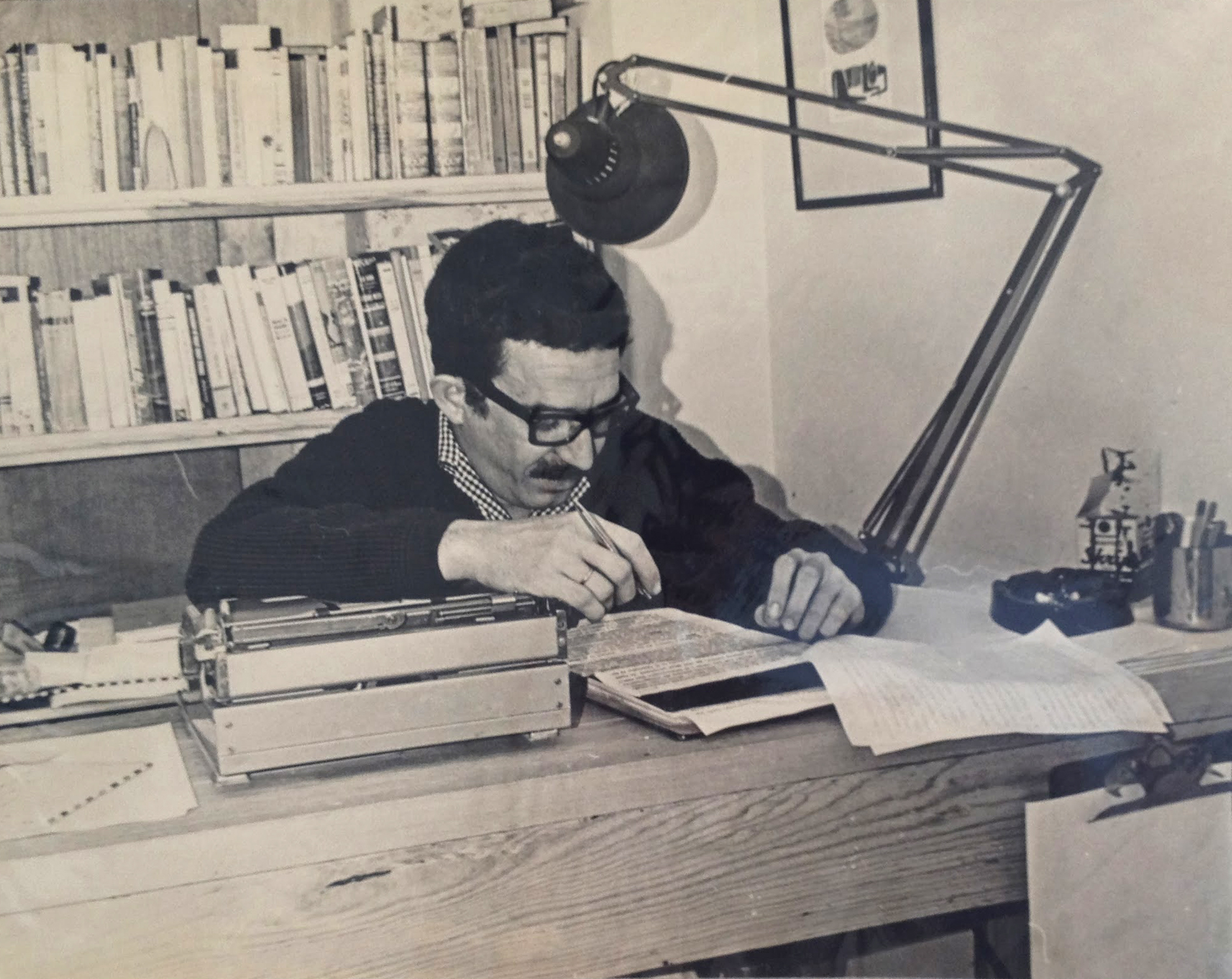 "Gabriel García Márquez working on ""One Hundred Years of Solitude,"" 1965"