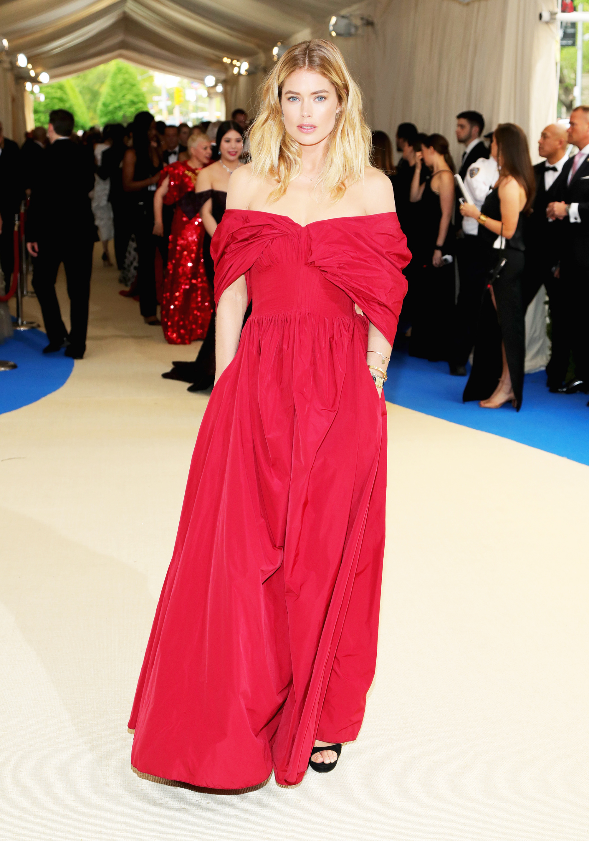 Doutzen Kroes attends The Metropolitan Museum of Art's Costume Institute benefit gala celebrating the opening of the Rei Kawakubo/Comme des Garçons: Art of the In-Between exhibition in New York City, on May 1, 2017.