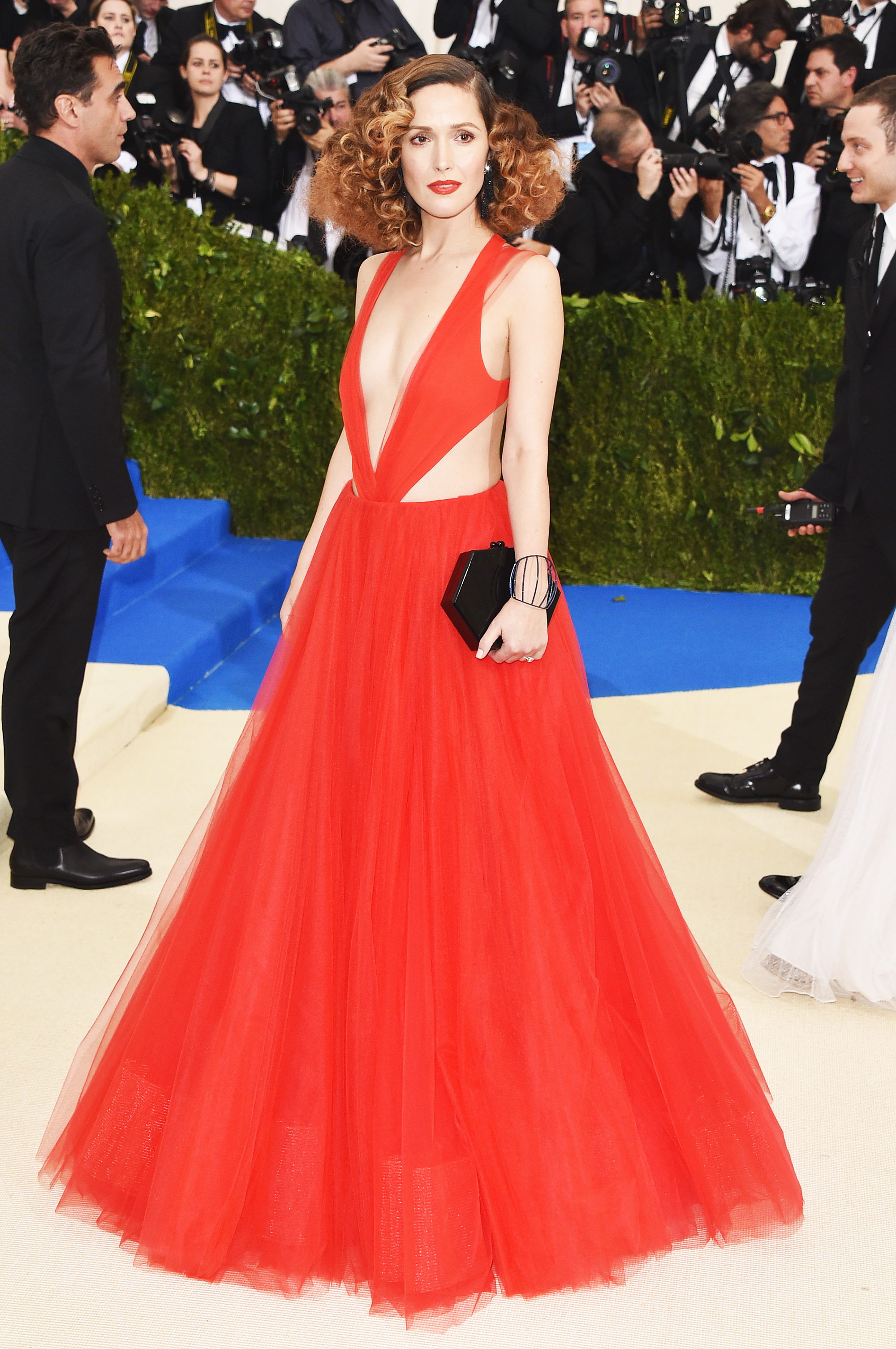 Rose Byrne attends The Metropolitan Museum of Art's Costume Institute benefit gala celebrating the opening of the Rei Kawakubo/Comme des Garçons: Art of the In-Between exhibition in New York City, on May 1, 2017.