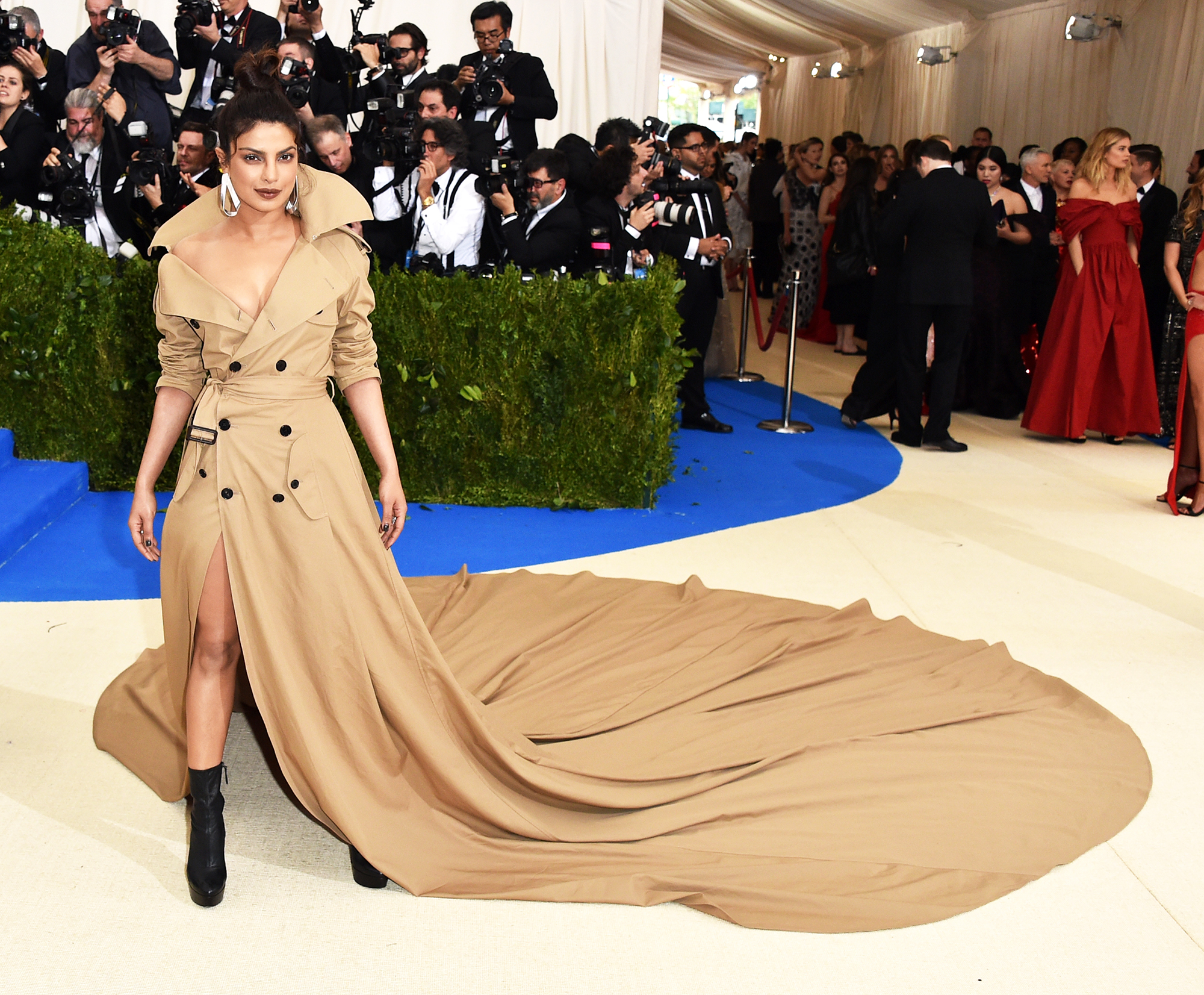 Priyanka Chopra attends The Metropolitan Museum of Art's Costume Institute benefit gala celebrating the opening of the Rei Kawakubo/Comme des Garçons: Art of the In-Between exhibition in New York City, on May 1, 2017.