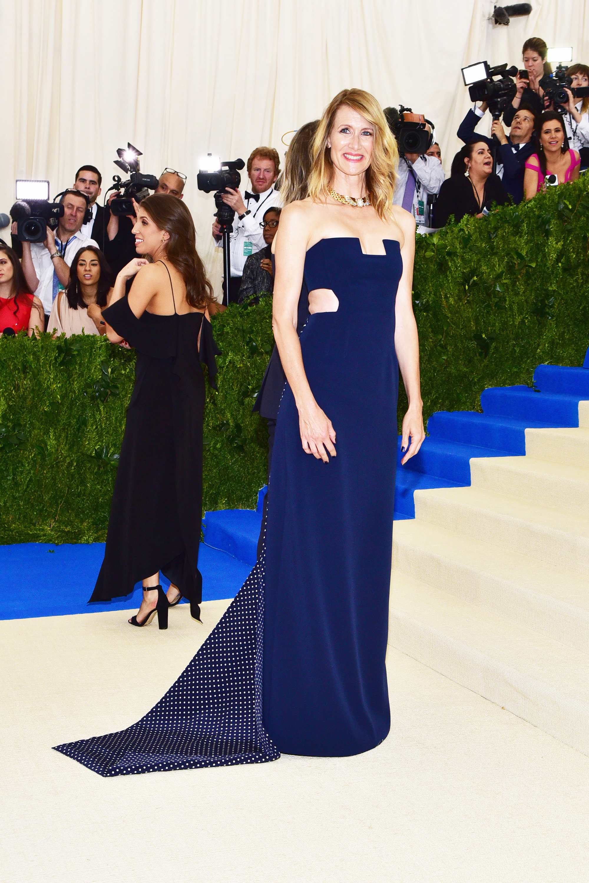 Laura Dern attends The Metropolitan Museum of Art's Costume Institute benefit gala celebrating the opening of the Rei Kawakubo/Comme des Garçons: Art of the In-Between exhibition in New York City, on May 1, 2017.