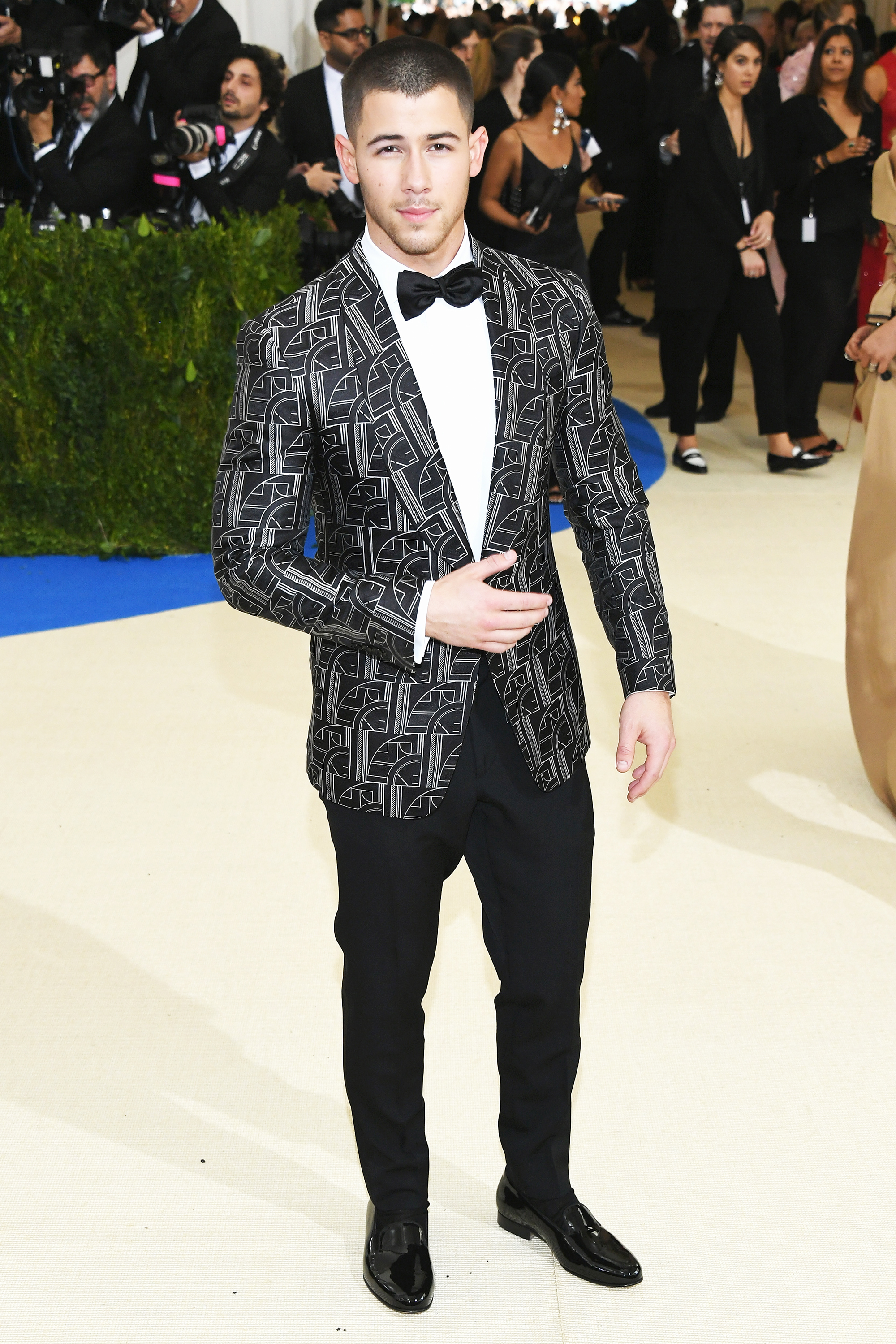 Nick Jonas attends The Metropolitan Museum of Art's Costume Institute benefit gala celebrating the opening of the Rei Kawakubo/Comme des Garçons: Art of the In-Between exhibition in New York City, on May 1, 2017.