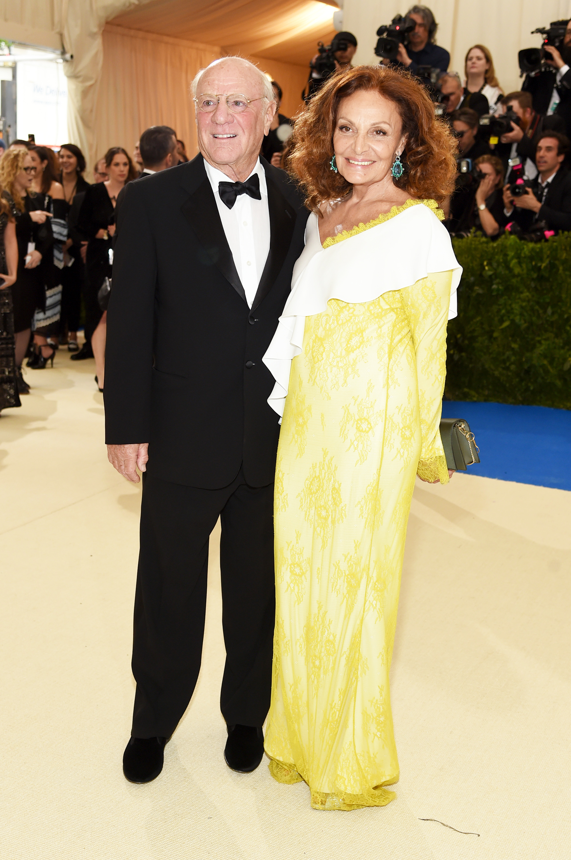 Barry Diller and Diane von Furstenberg attend The Metropolitan Museum of Art's Costume Institute benefit gala celebrating the opening of the Rei Kawakubo/Comme des Garçons: Art of the In-Between exhibition in New York City, on May 1, 2017.
