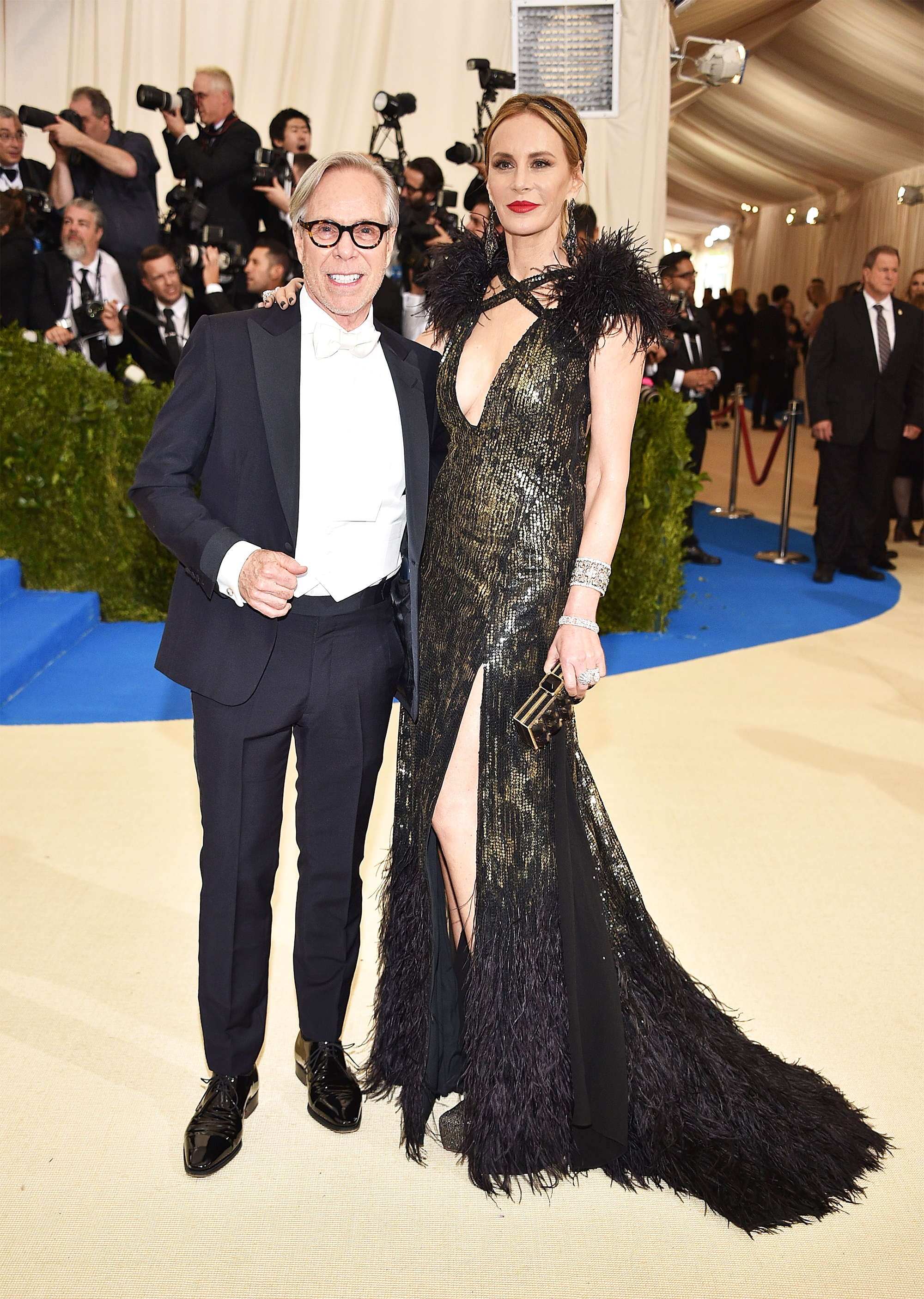 Tommy Hilfiger and Dee Hilfiger attend The Metropolitan Museum of Art's Costume Institute benefit gala celebrating the opening of the Rei Kawakubo/Comme des Garçons: Art of the In-Between exhibition in New York City, on May 1, 2017.