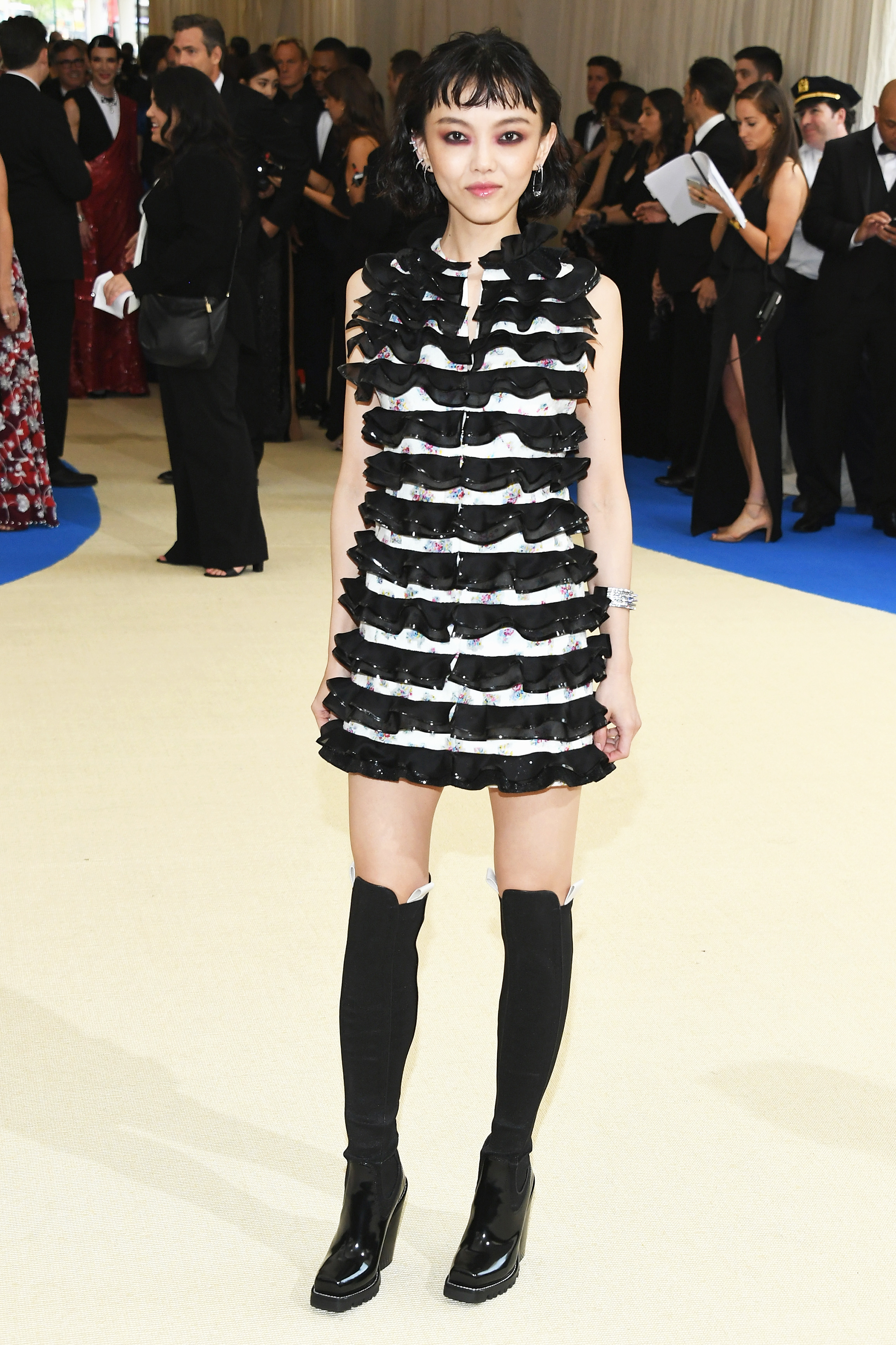 Rila Fukushima attends The Metropolitan Museum of Art's Costume Institute benefit gala celebrating the opening of the Rei Kawakubo/Comme des Garçons: Art of the In-Between exhibition in New York City, on May 1, 2017.