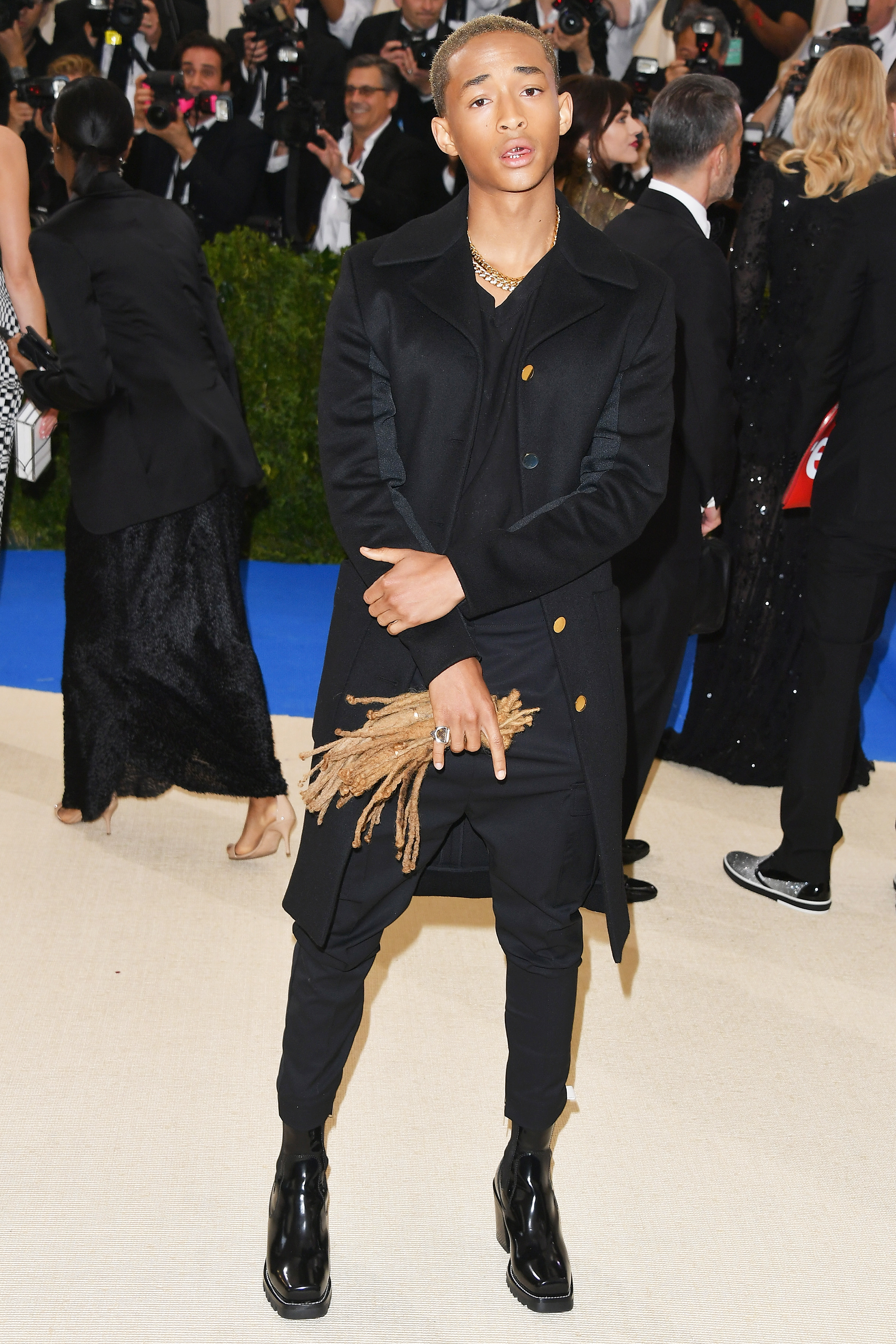 Jaden Smith attends The Metropolitan Museum of Art's Costume Institute benefit gala celebrating the opening of the Rei Kawakubo/Comme des Garçons: Art of the In-Between exhibition in New York City, on May 1, 2017.