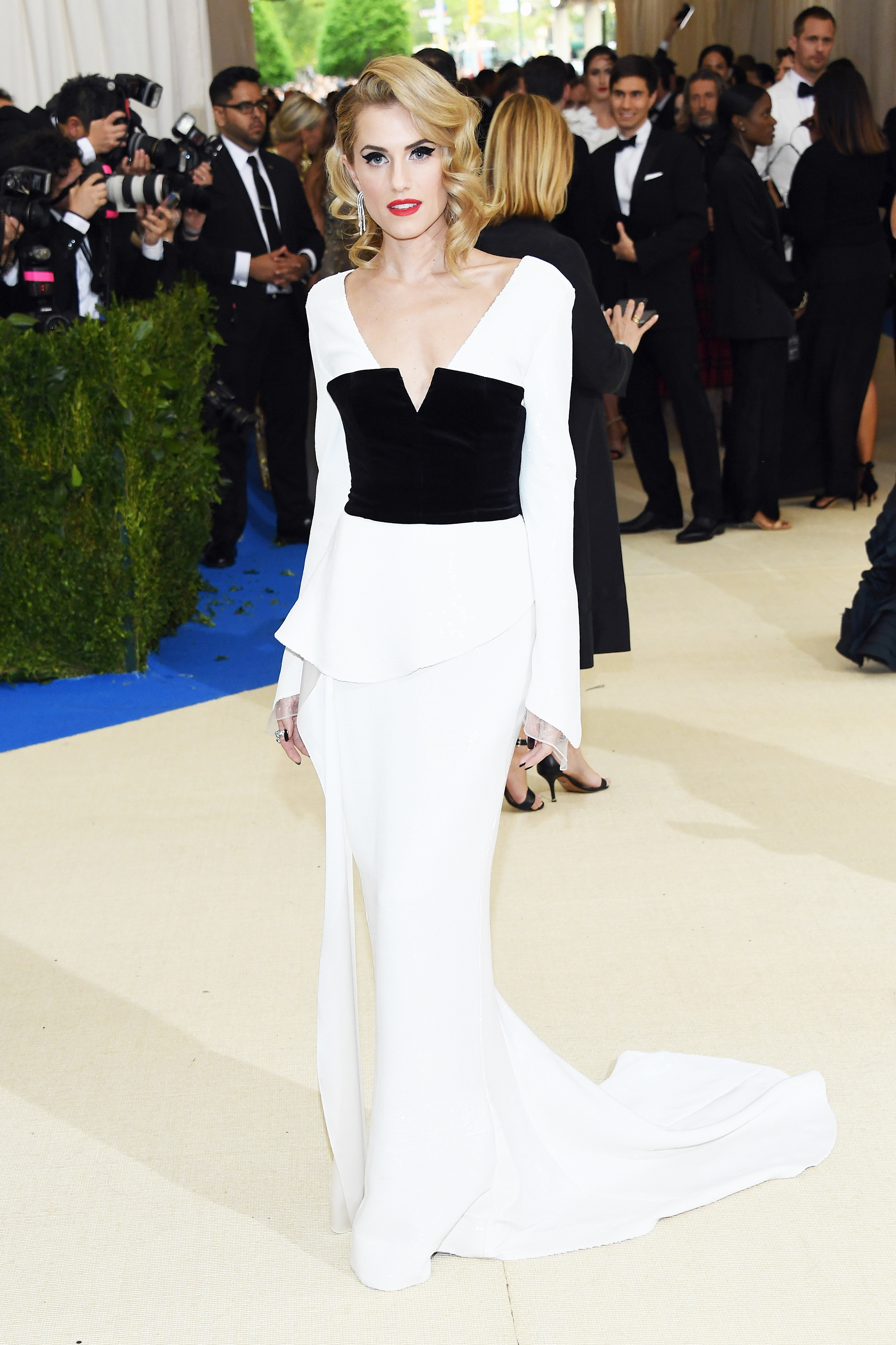Allison Williams attends The Metropolitan Museum of Art's Costume Institute benefit gala celebrating the opening of the Rei Kawakubo/Comme des Garçons: Art of the In-Between exhibition in New York City, on May 1, 2017.