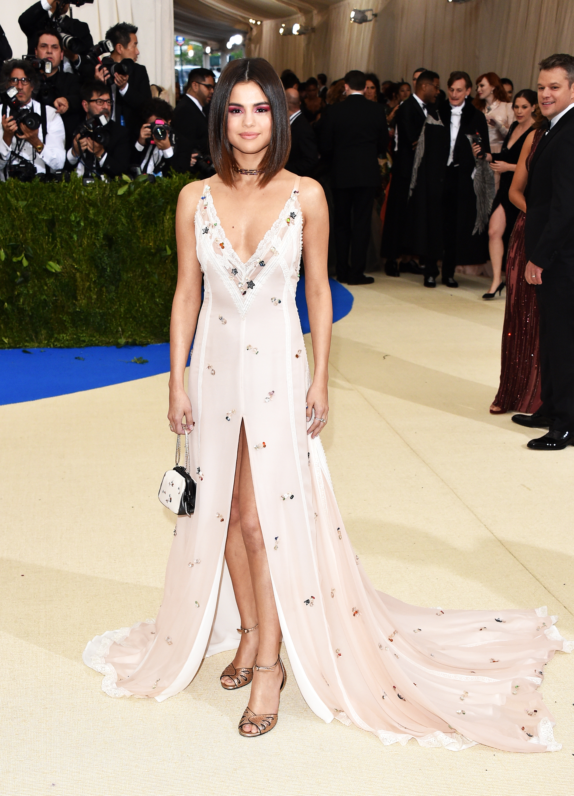 Selena Gomez attends The Metropolitan Museum of Art's Costume Institute benefit gala celebrating the opening of the Rei Kawakubo/Comme des Garçons: Art of the In-Between exhibition in New York City, on May 1, 2017.