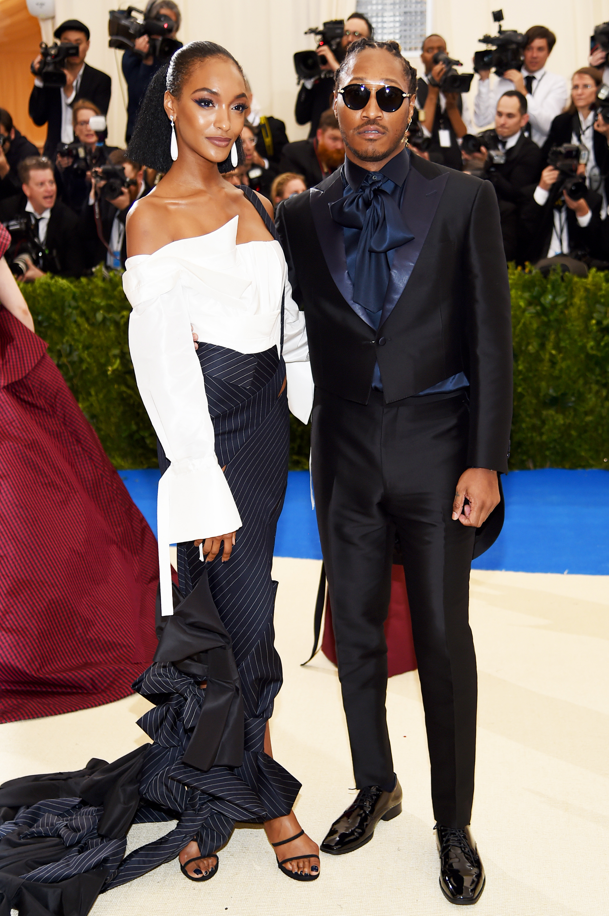 Jourdan Dunn and Future attend The Metropolitan Museum of Art's Costume Institute benefit gala celebrating the opening of the Rei Kawakubo/Comme des Garçons: Art of the In-Between exhibition in New York City, on May 1, 2017.