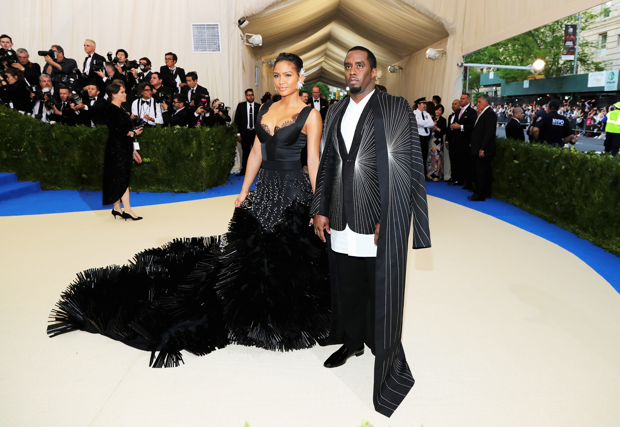 Cassie and Sean  Diddy  Combs attends The Metropolitan Museum of Art's Costume Institute benefit gala celebrating the opening of the Rei Kawakubo/Comme des Garçons: Art of the In-Between exhibition in New York City, on May 1, 2017.