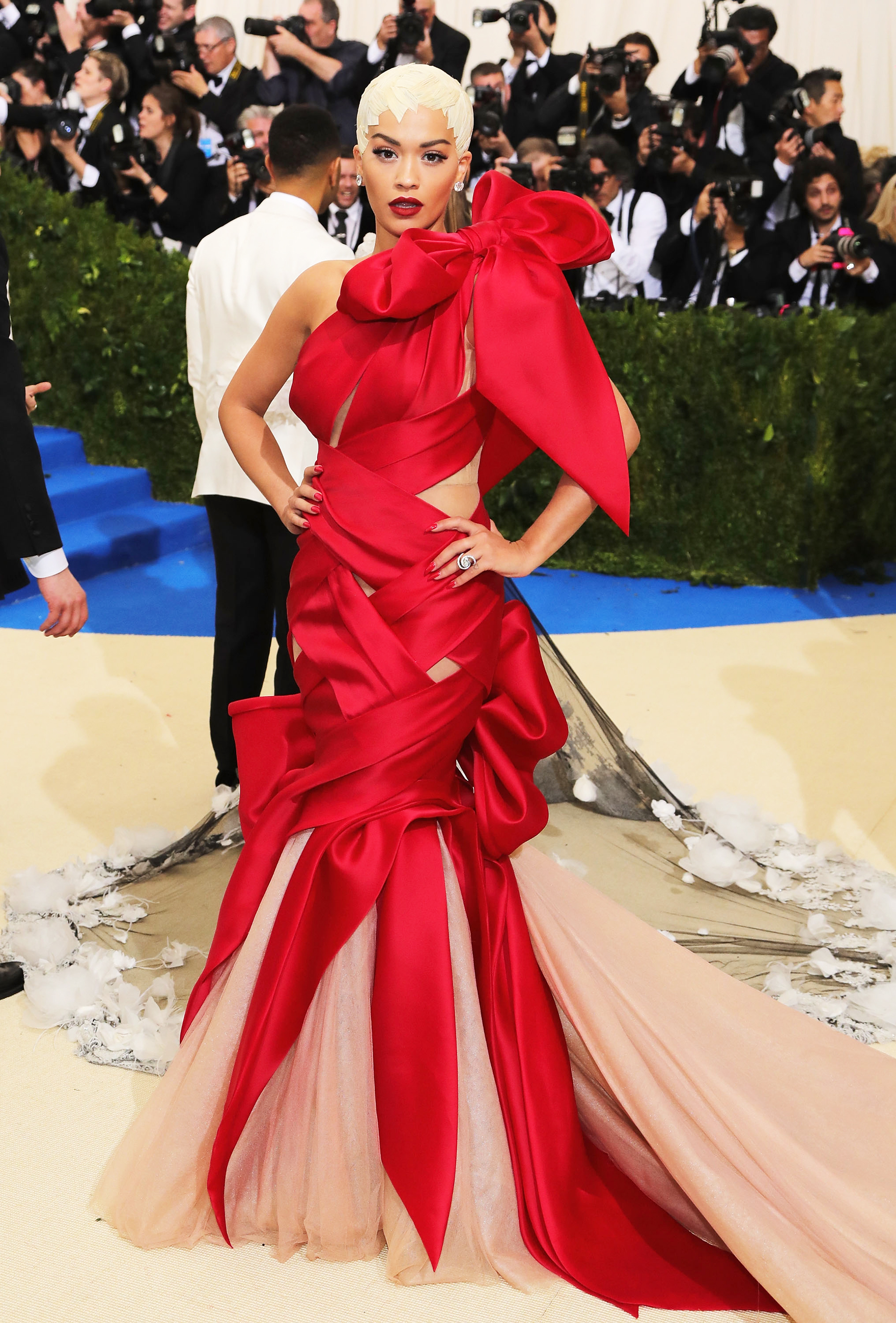 Rita Ora attends The Metropolitan Museum of Art's Costume Institute benefit gala celebrating the opening of the Rei Kawakubo/Comme des Garçons: Art of the In-Between exhibition in New York City, on May 1, 2017.