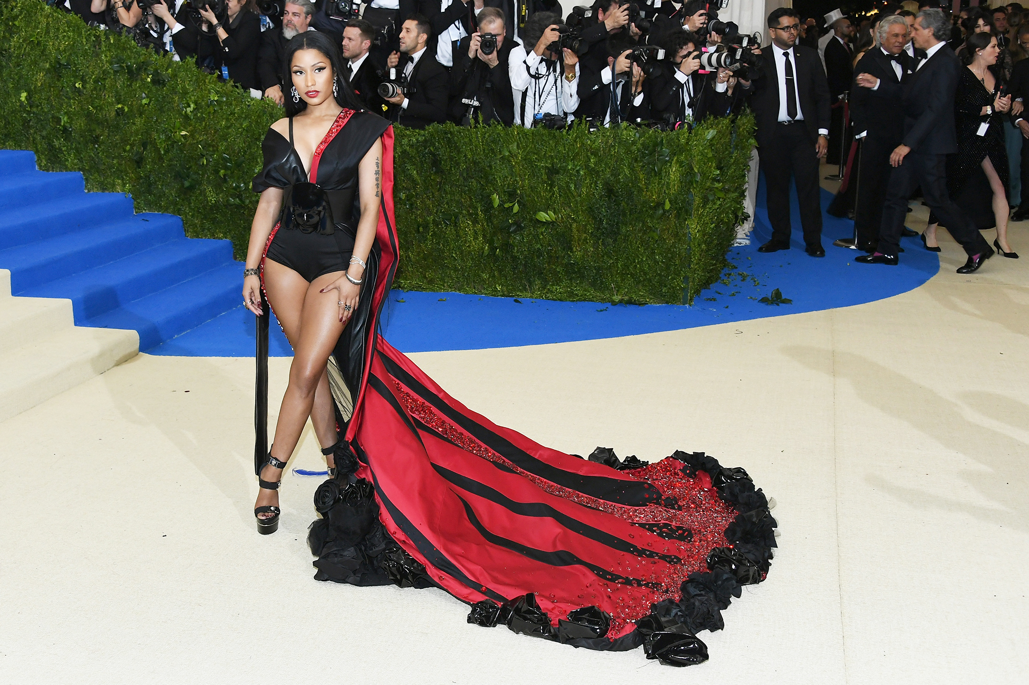 Nicki Minaj attends The Metropolitan Museum of Art's Costume Institute benefit gala celebrating the opening of the Rei Kawakubo/Comme des Garçons: Art of the In-Between exhibition in New York City, on May 1, 2017.