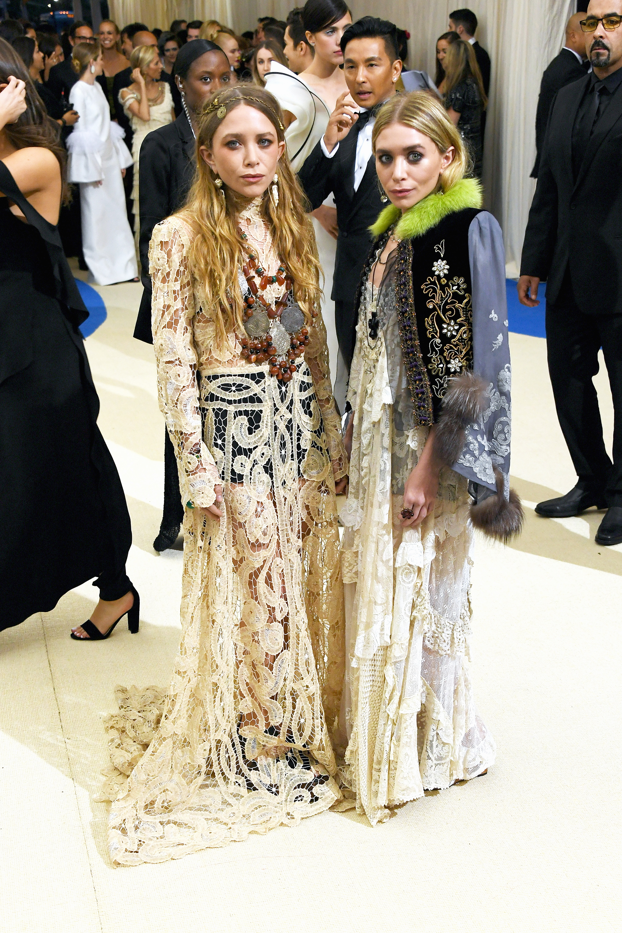 Mary-Kate and Ashley Olsen attend The Metropolitan Museum of Art's Costume Institute benefit gala celebrating the opening of the Rei Kawakubo/Comme des Garçons: Art of the In-Between exhibition in New York City, on May 1, 2017.