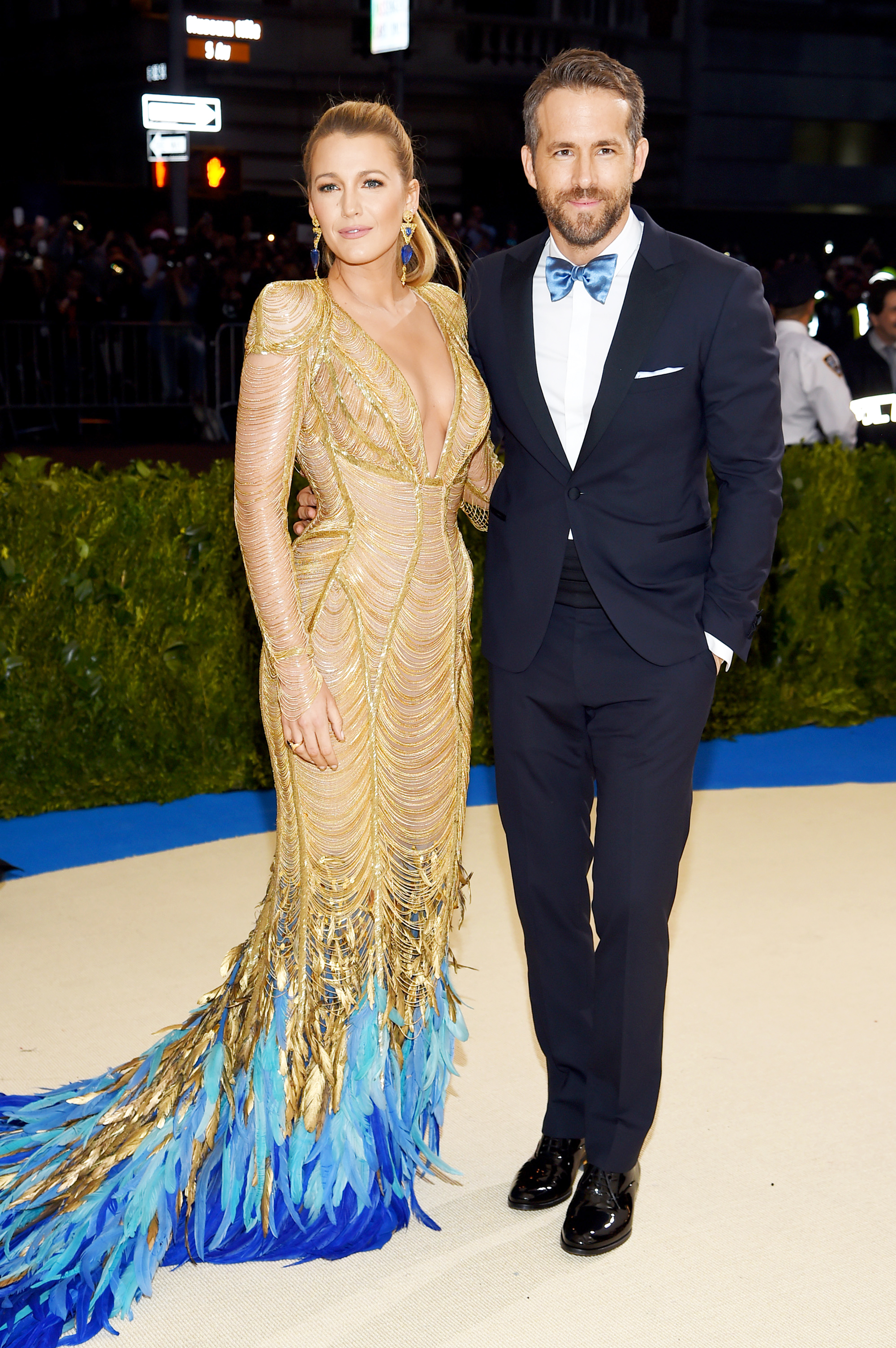 Blake Lively and Ryan Reynolds attend The Metropolitan Museum of Art's Costume Institute benefit gala celebrating the opening of the Rei Kawakubo/Comme des Garçons: Art of the In-Between exhibition in New York City, on May 1, 2017.