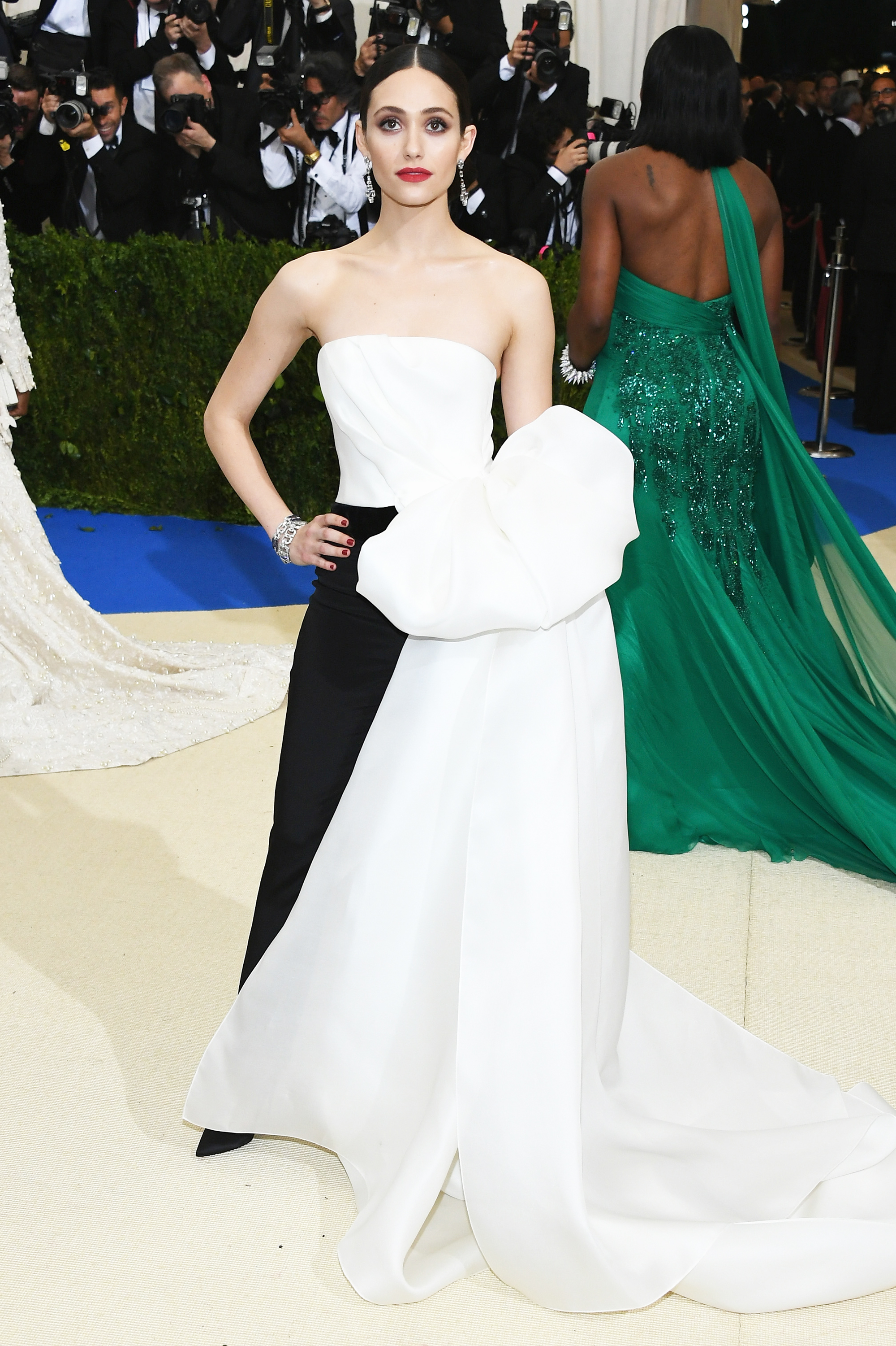 Emmy Rossum attends The Metropolitan Museum of Art's Costume Institute benefit gala celebrating the opening of the Rei Kawakubo/Comme des Garçons: Art of the In-Between exhibition in New York City, on May 1, 2017.