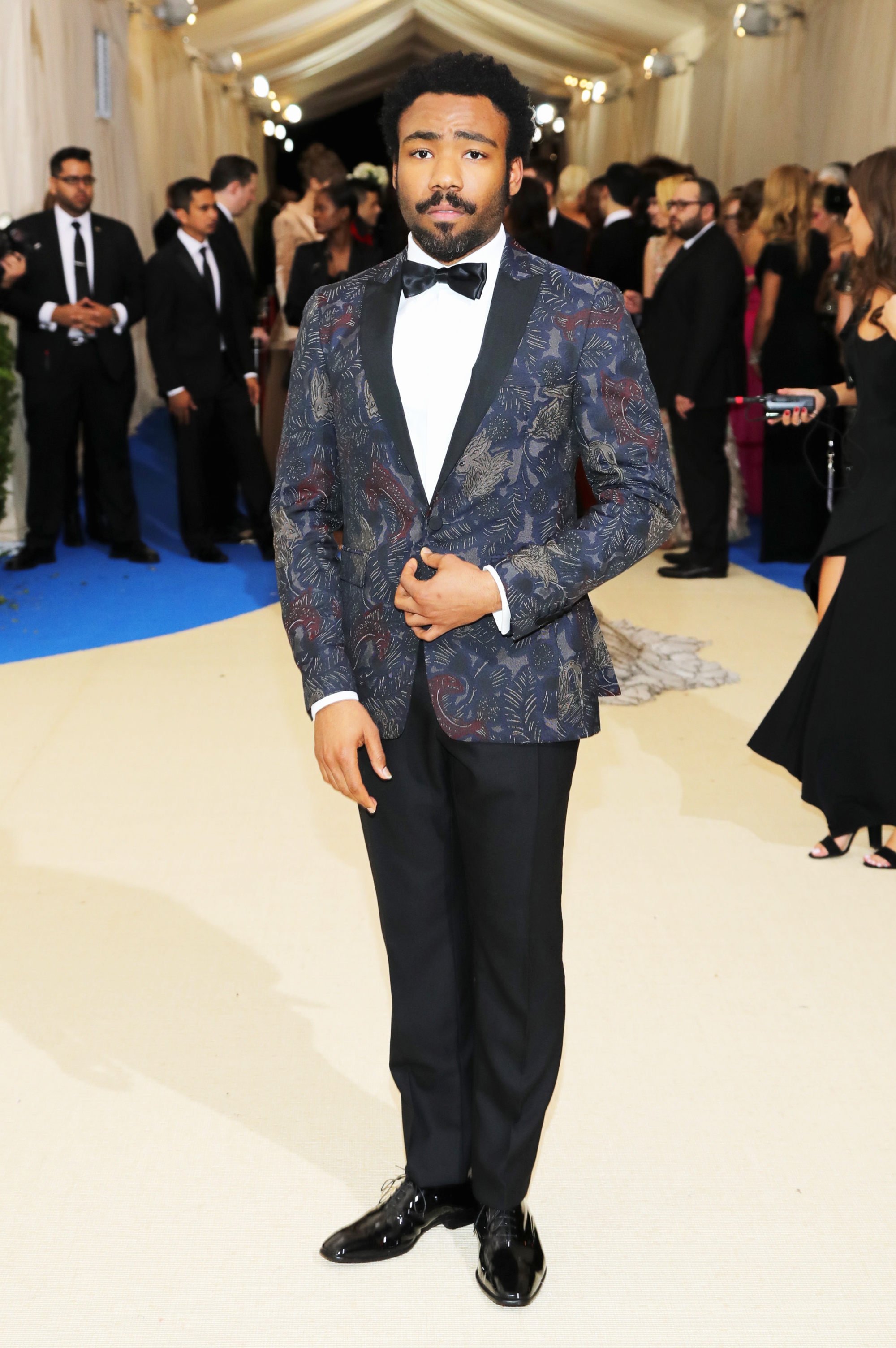 Donald Glover attends The Metropolitan Museum of Art's Costume Institute benefit gala celebrating the opening of the Rei Kawakubo/Comme des Garçons: Art of the In-Between exhibition in New York City, on May 1, 2017.