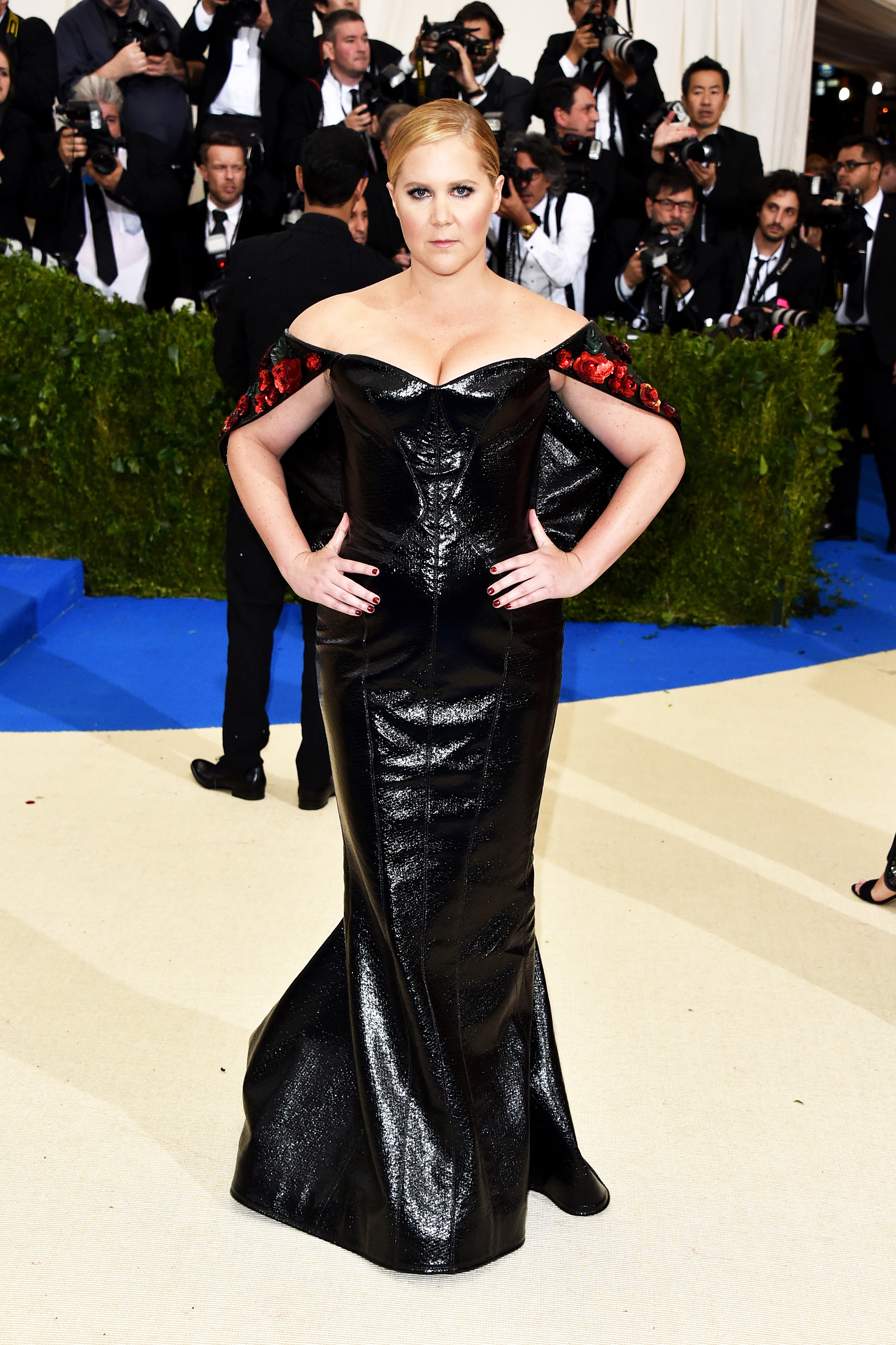 Amy Schumer attends The Metropolitan Museum of Art's Costume Institute benefit gala celebrating the opening of the Rei Kawakubo/Comme des Garçons: Art of the In-Between exhibition in New York City, on May 1, 2017.