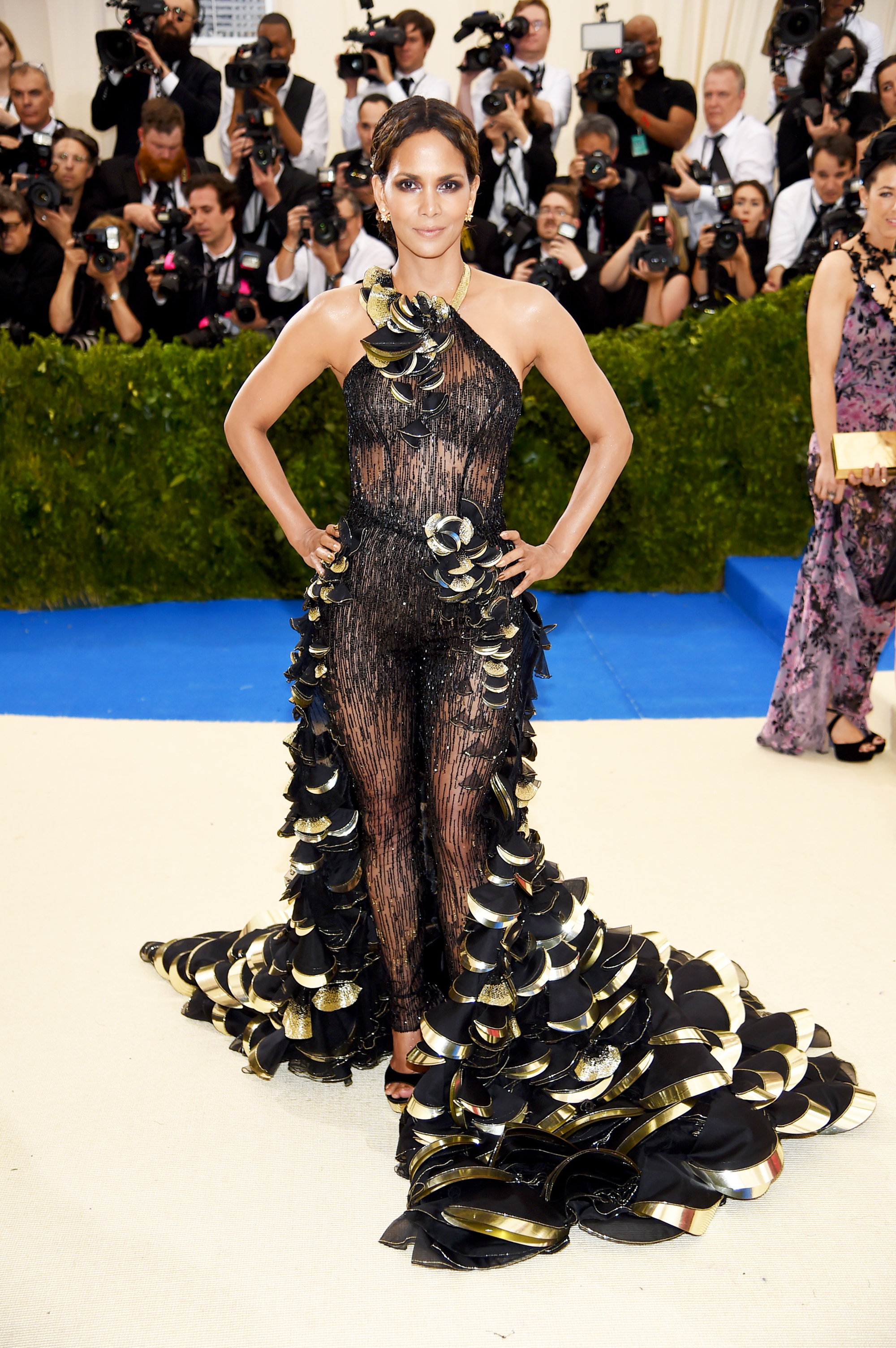 Halle Berry attends The Metropolitan Museum of Art's Costume Institute benefit gala celebrating the opening of the Rei Kawakubo/Comme des Garçons: Art of the In-Between exhibition in New York City, on May 1, 2017.