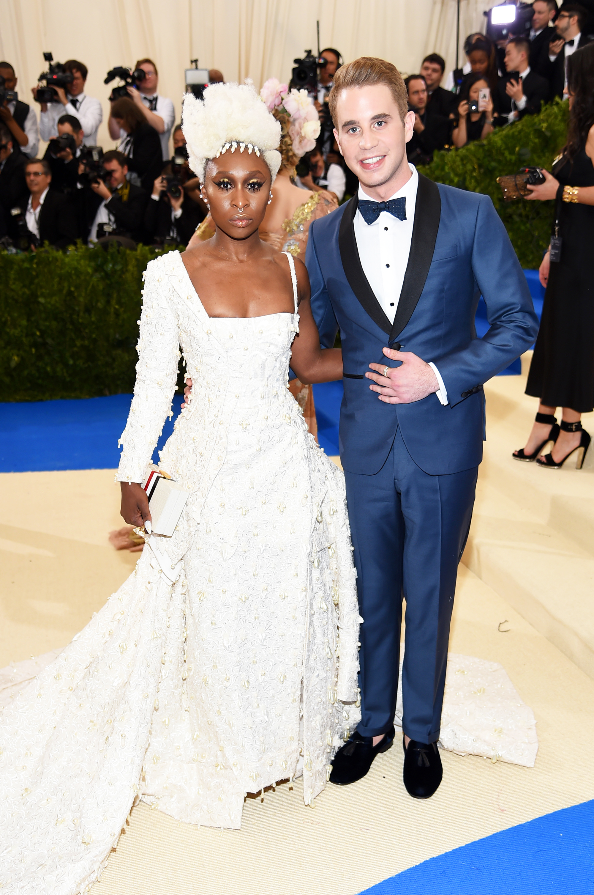 Cynthia Erivo and Ben Platt attend The Metropolitan Museum of Art's Costume Institute benefit gala celebrating the opening of the Rei Kawakubo/Comme des Garçons: Art of the In-Between exhibition in New York City, on May 1, 2017.