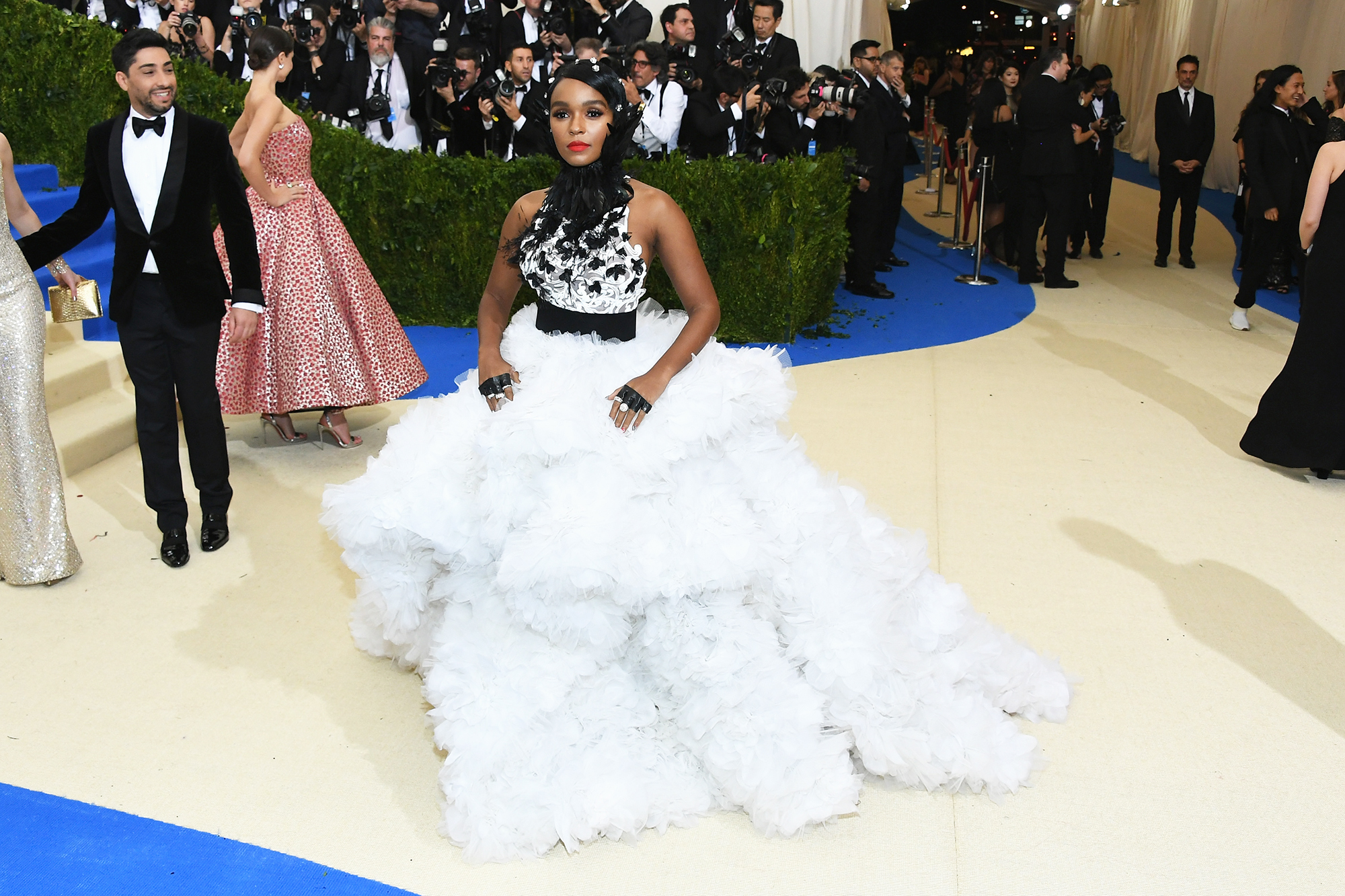 Janelle Monáe attends The Metropolitan Museum of Art's Costume Institute benefit gala celebrating the opening of the Rei Kawakubo/Comme des Garçons: Art of the In-Between exhibition in New York City, on May 1, 2017.