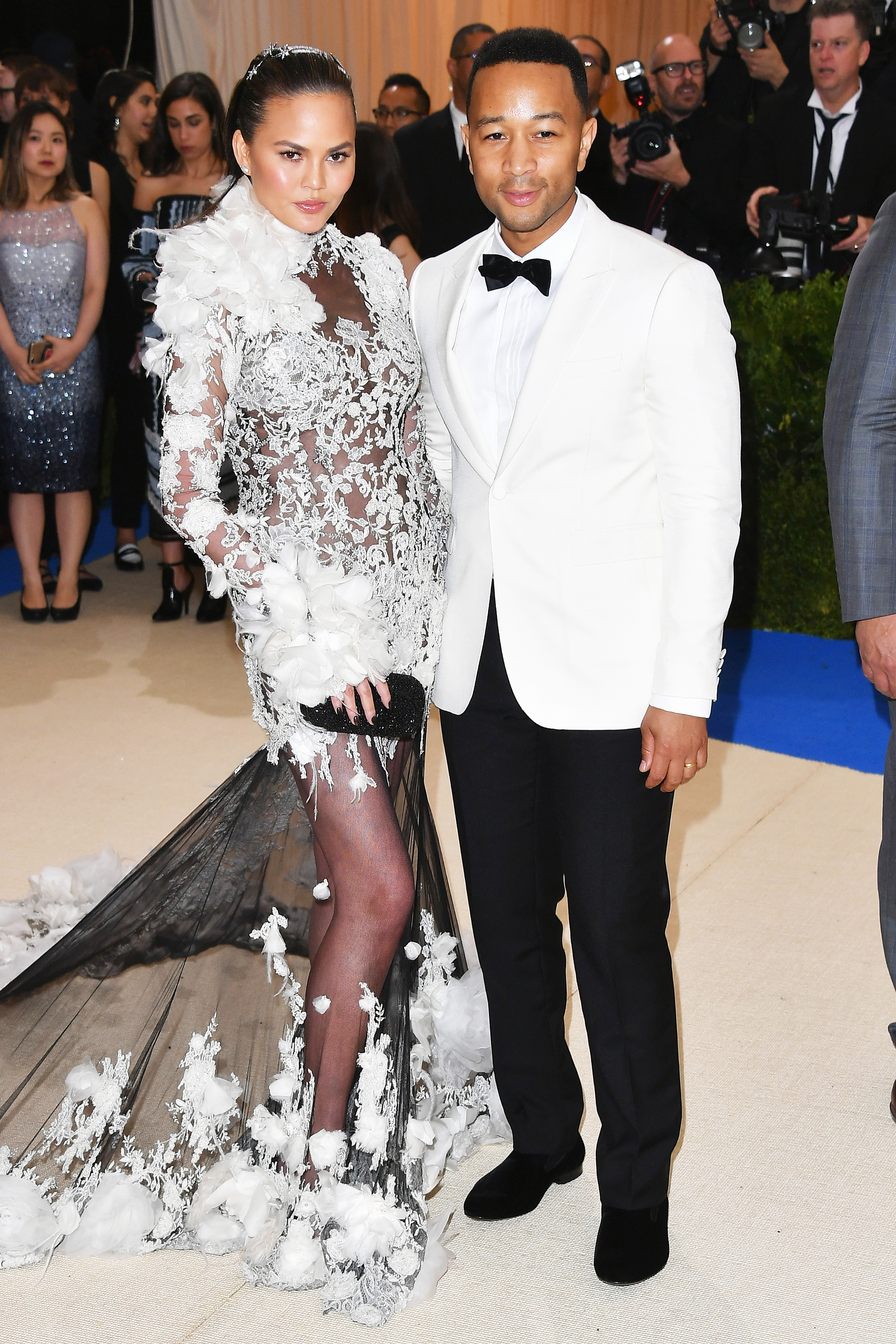 Chrissy Teigen and John Legend attend The Metropolitan Museum of Art's Costume Institute benefit gala celebrating the opening of the Rei Kawakubo/Comme des Garçons: Art of the In-Between exhibition in New York City, on May 1, 2017.