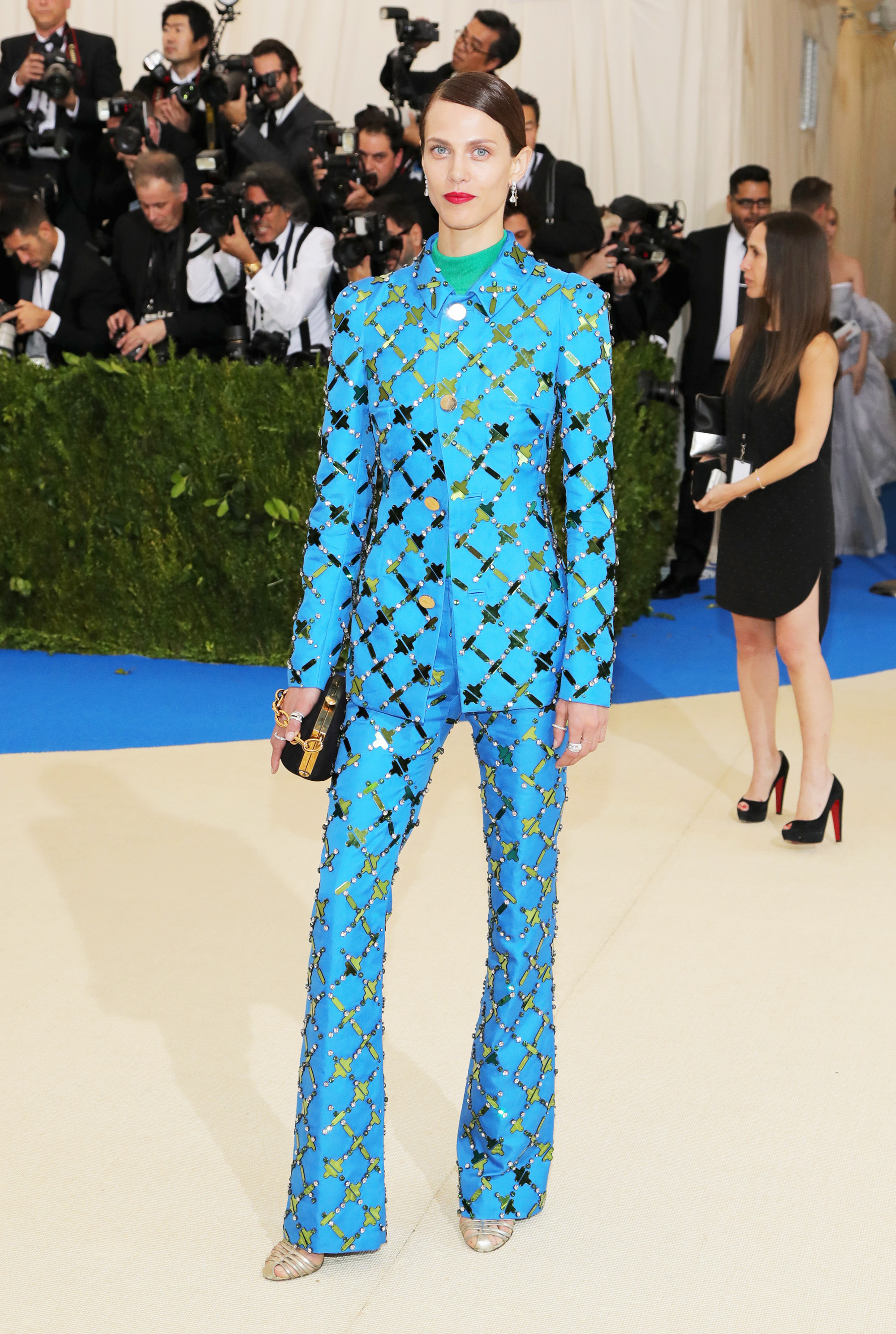 Aymeline Valade attends The Metropolitan Museum of Art's Costume Institute benefit gala celebrating the opening of the Rei Kawakubo/Comme des Garçons: Art of the In-Between exhibition in New York City, on May 1, 2017.