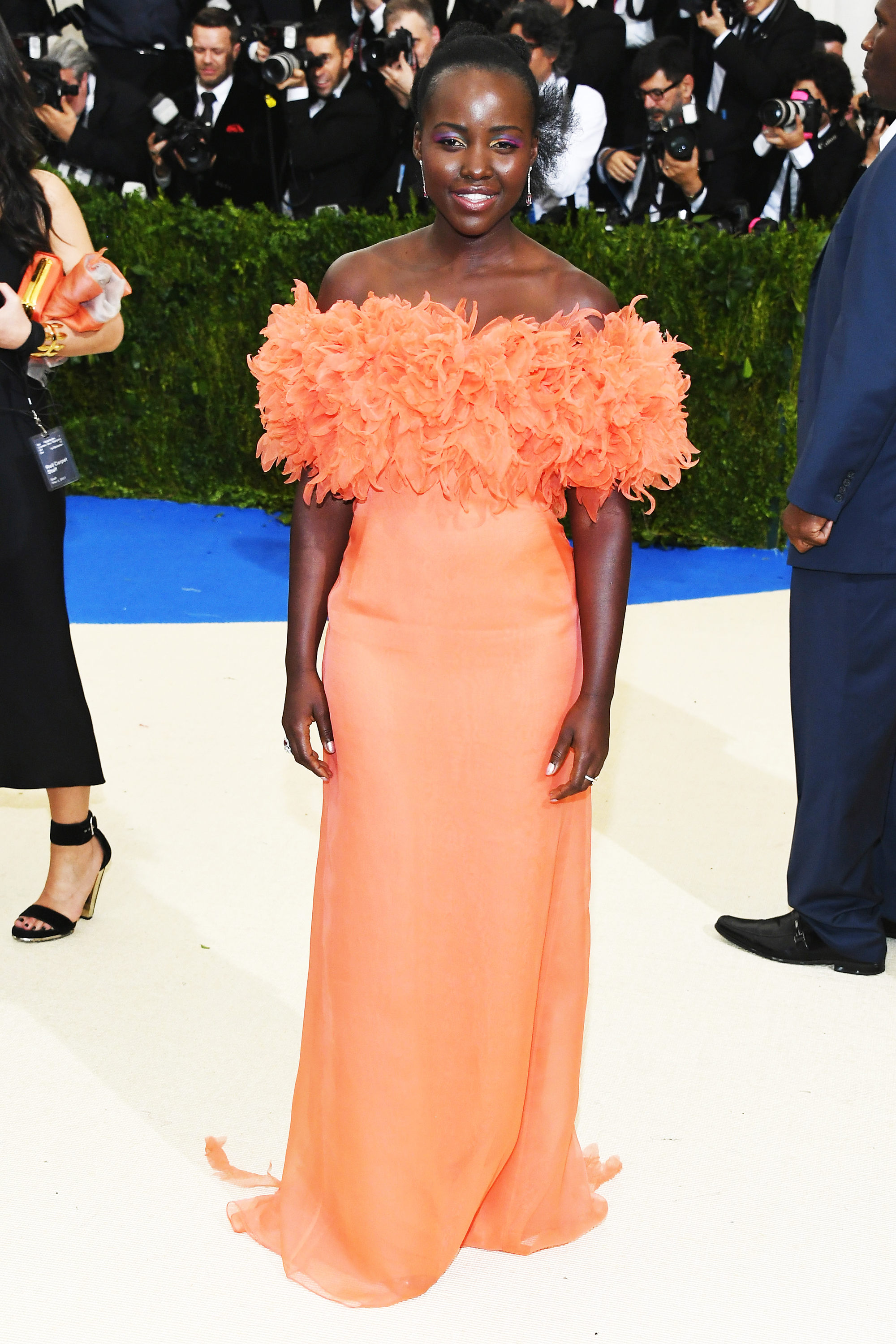 Lupita Nyong'o attends The Metropolitan Museum of Art's Costume Institute benefit gala celebrating the opening of the Rei Kawakubo/Comme des Garçons: Art of the In-Between exhibition in New York City, on May 1, 2017.