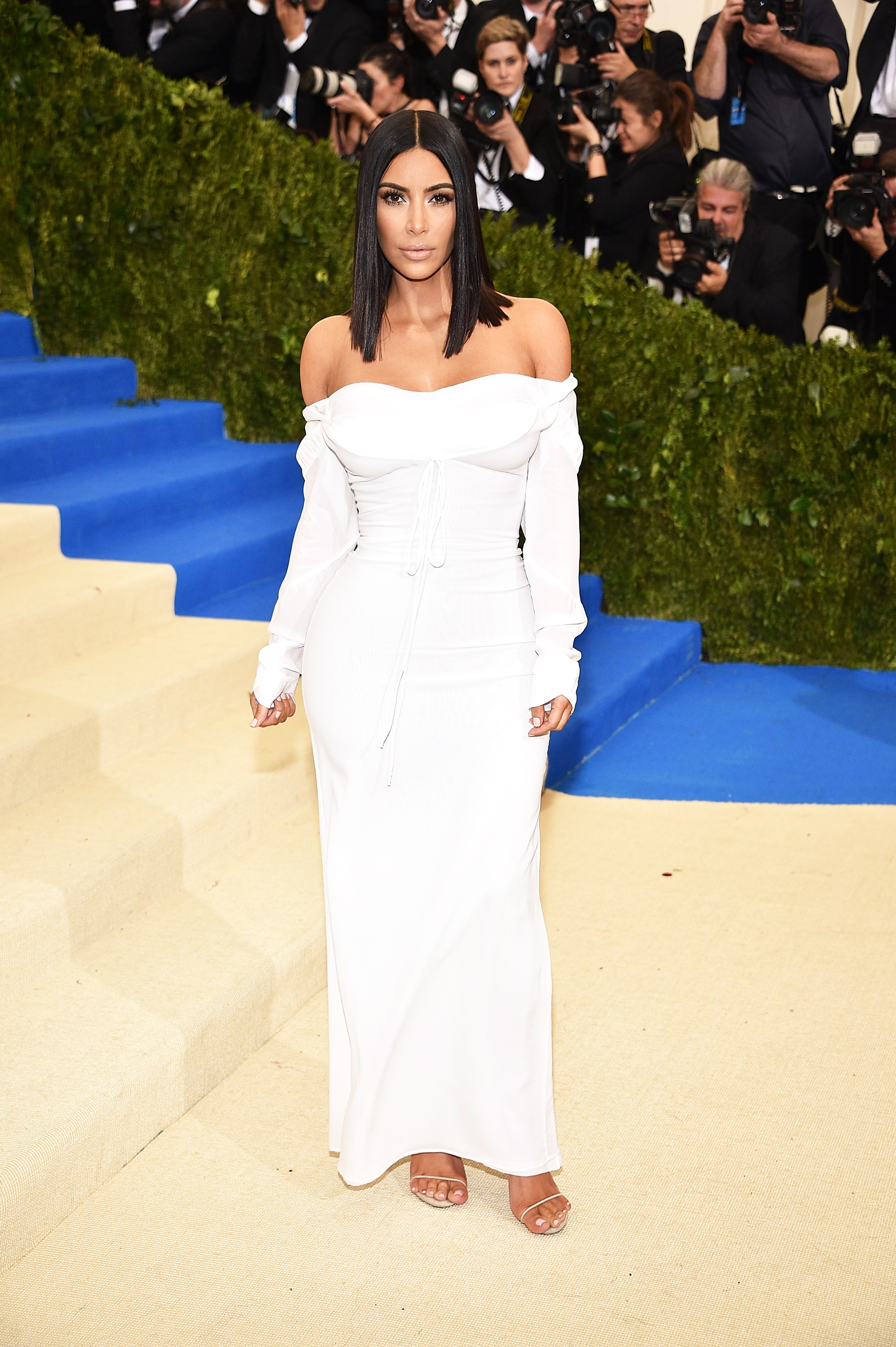 Kim Kardashian West attends The Metropolitan Museum of Art's Costume Institute benefit gala celebrating the opening of the Rei Kawakubo/Comme des Garçons: Art of the In-Between exhibition in New York City, on May 1, 2017.