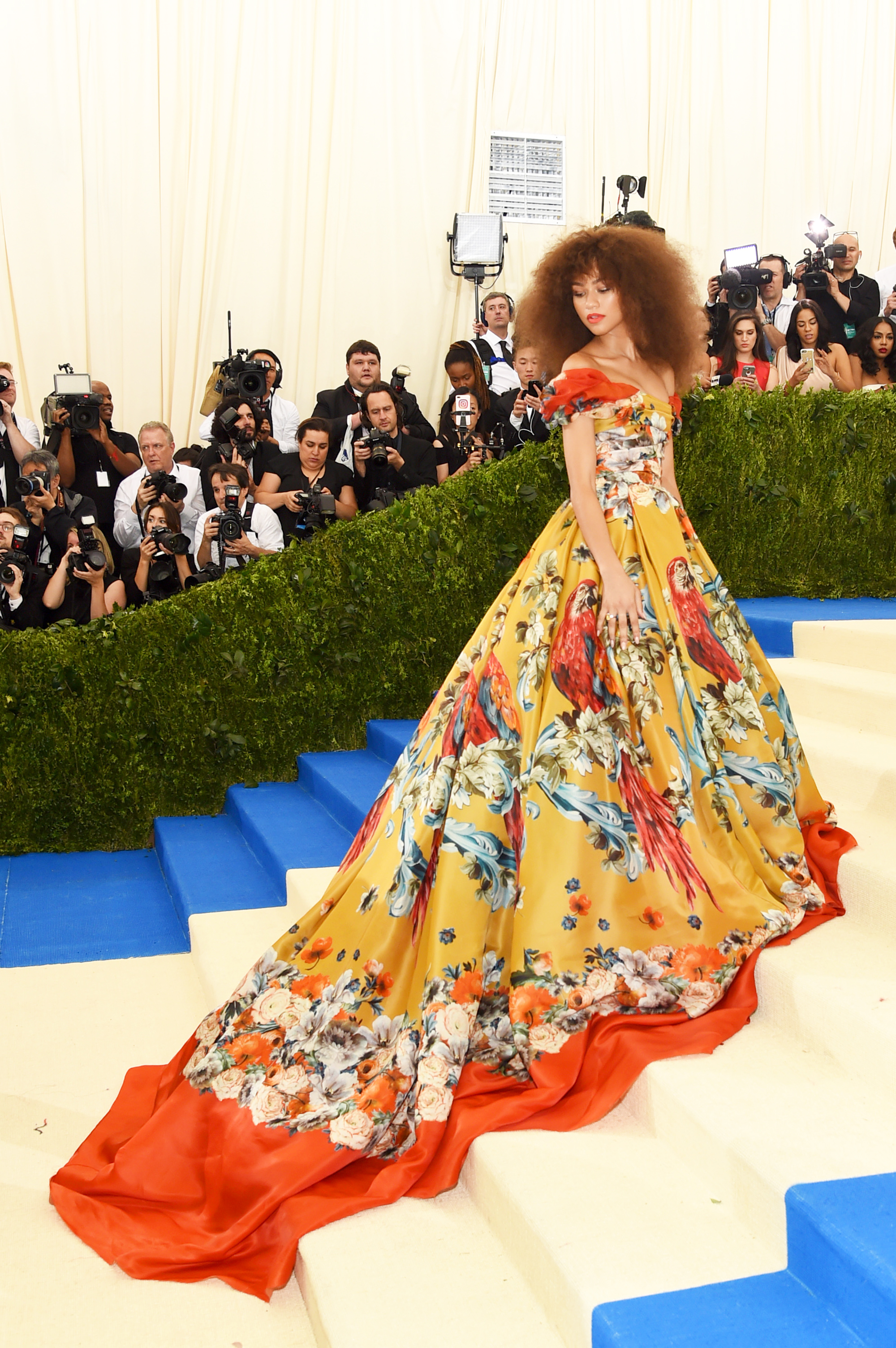 Zendaya attends The Metropolitan Museum of Art's Costume Institute benefit gala celebrating the opening of the Rei Kawakubo/Comme des Garçons: Art of the In-Between exhibition in New York City, on May 1, 2017.