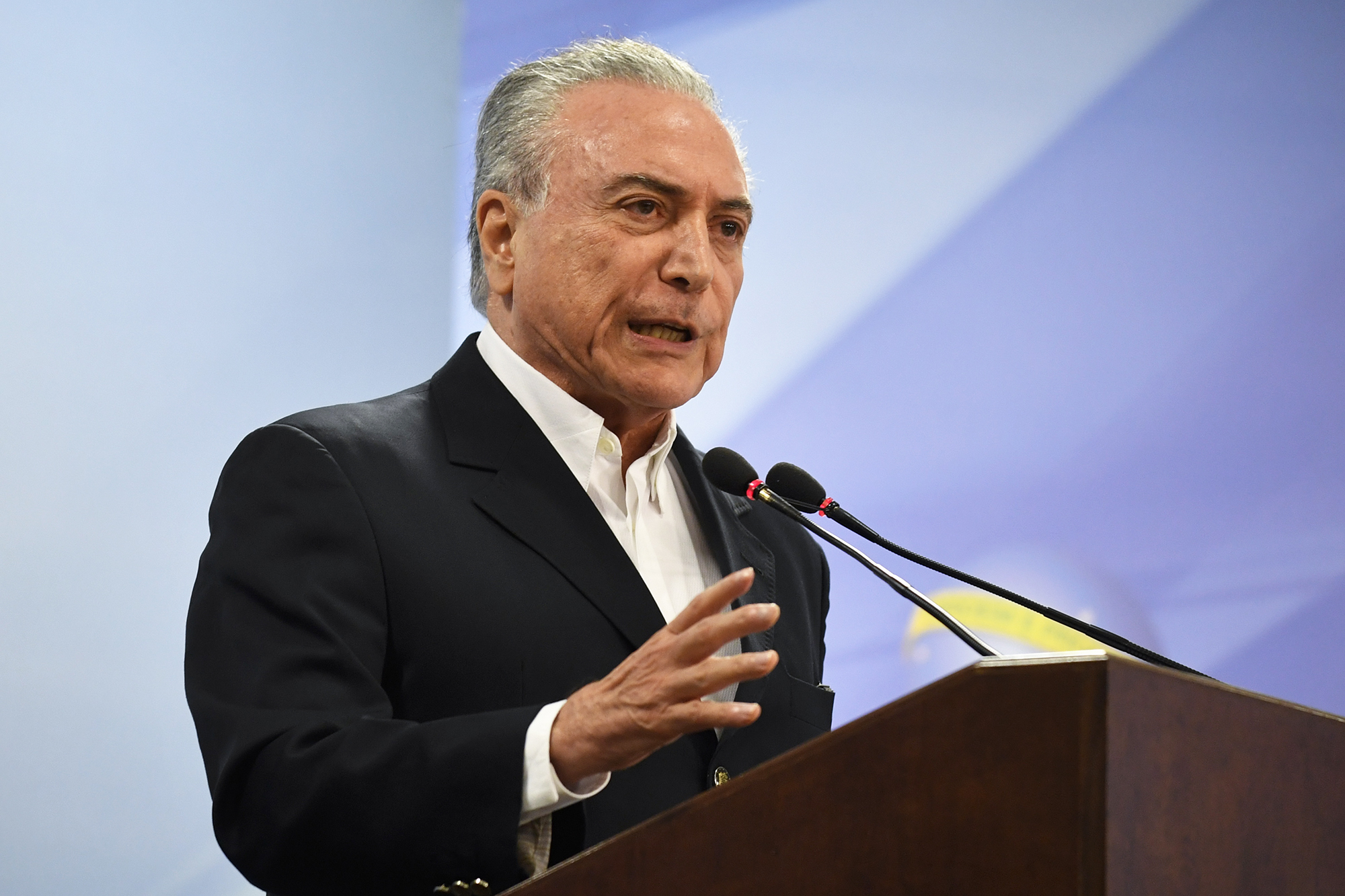 Brazil's President Michel Temer, on May 20, 2017.