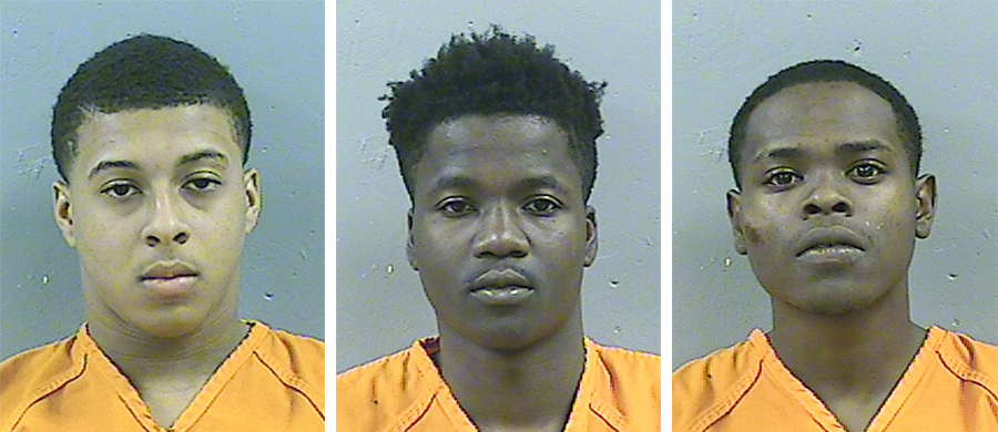 Dwan Wakefield (left), Tyreek Washington (center) and Byron McBride (right)
