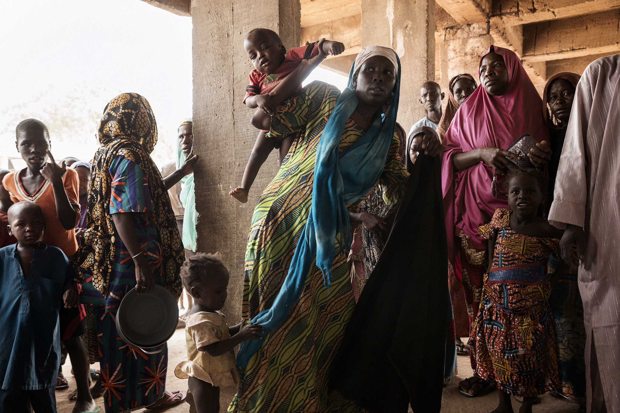 Internally displaced people at the the Dalori camp on the outskirts of Maiduguri, Nigeria.