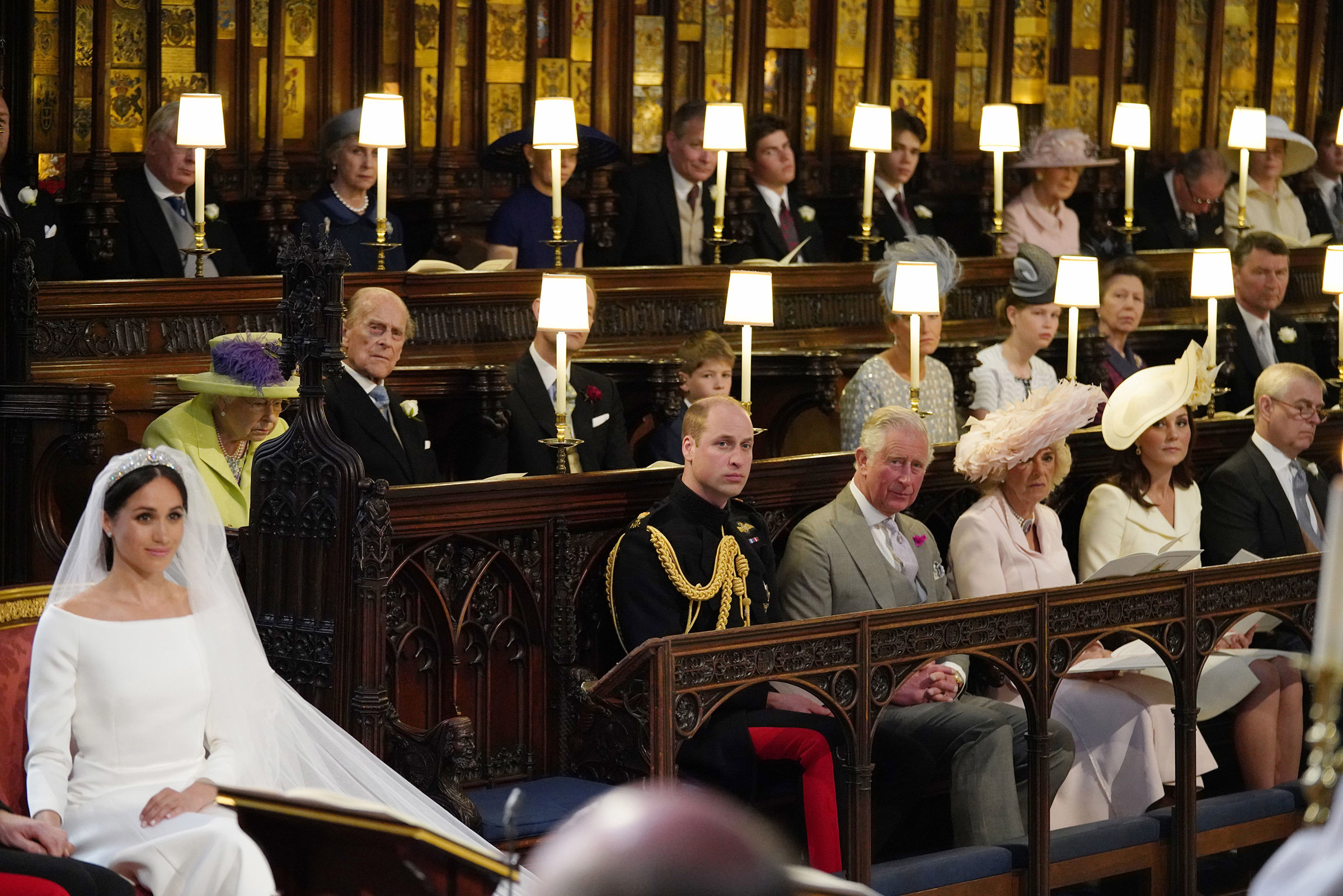 Prince Philip, Duke of Edinburgh, attends the wedding of Meghan, Duchess of Sussex, and Prince Harry in St George's Chapel, Windsor Castle on May 19, 2018.