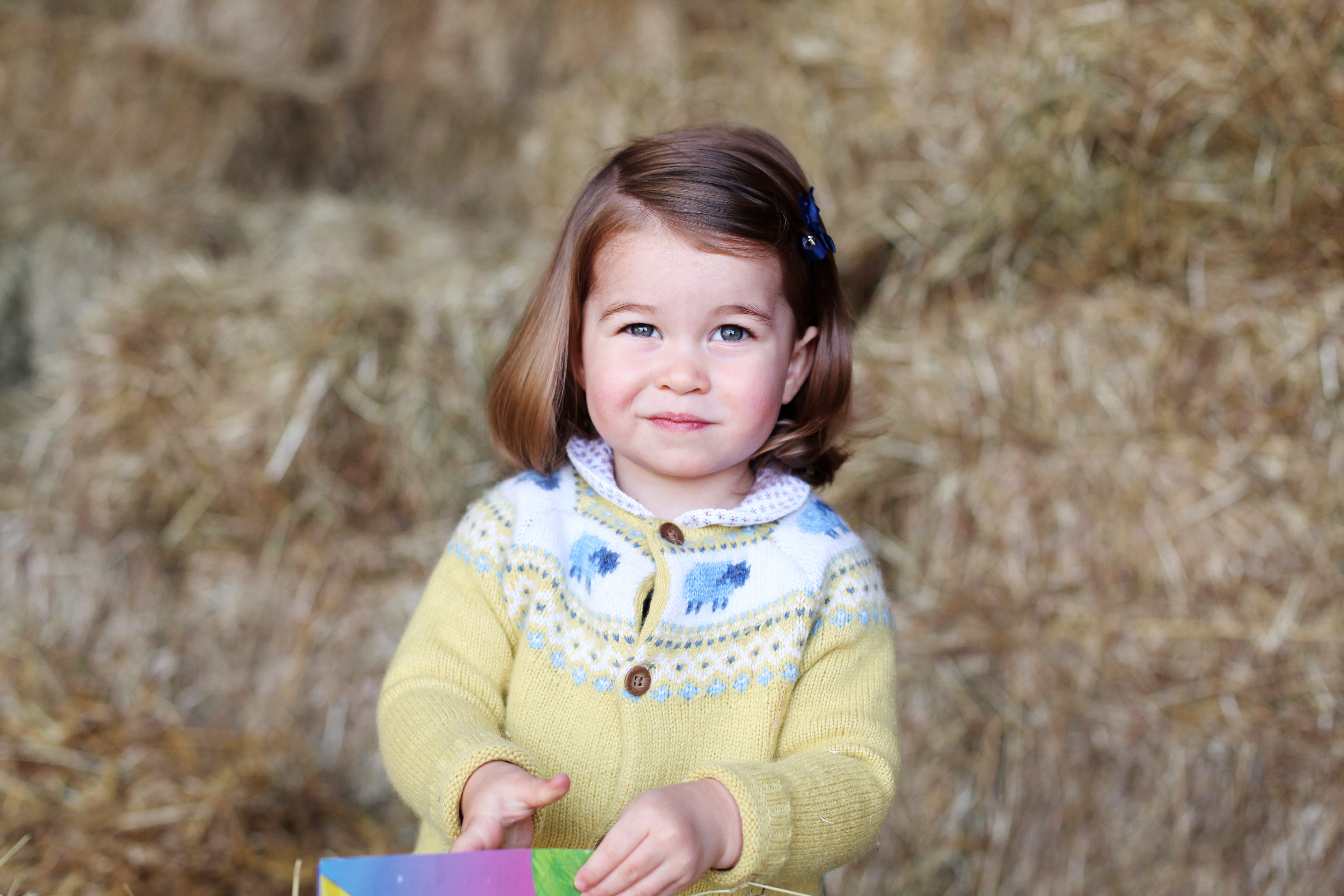 Princess Charlotte is pictured at home in April in Norfolk, England.