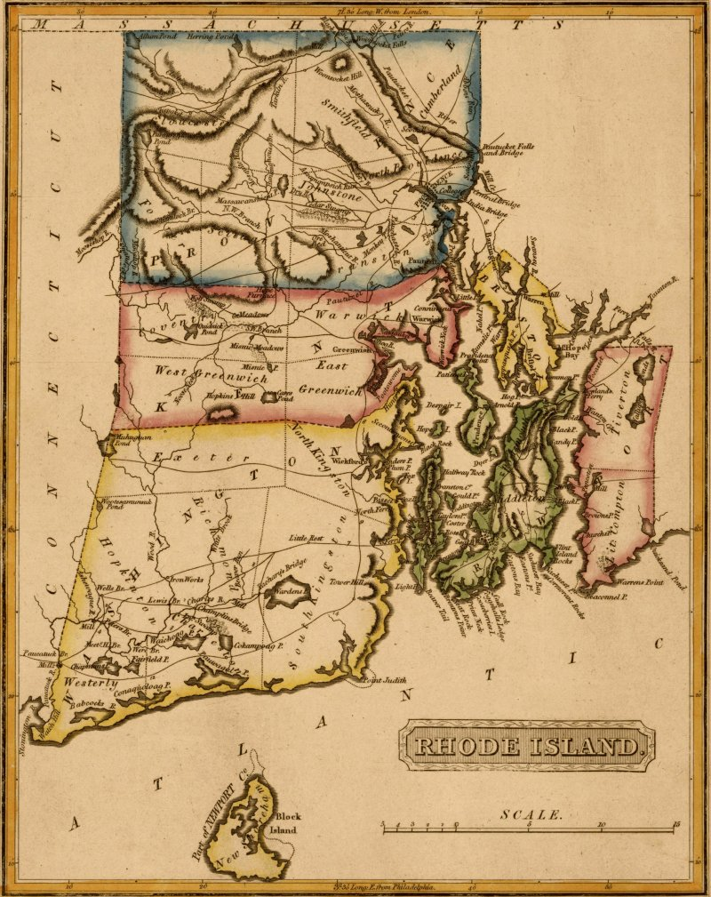 Map of Rhode Island.