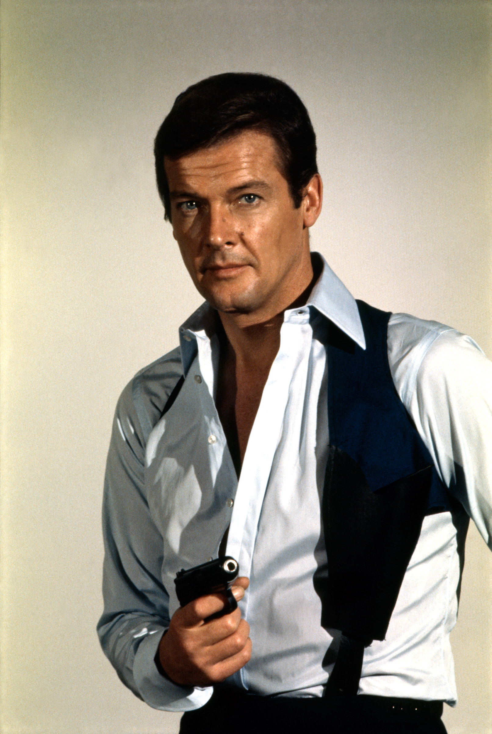 Roger Moore as James Bond from the movie Live and Let Die, 1973.