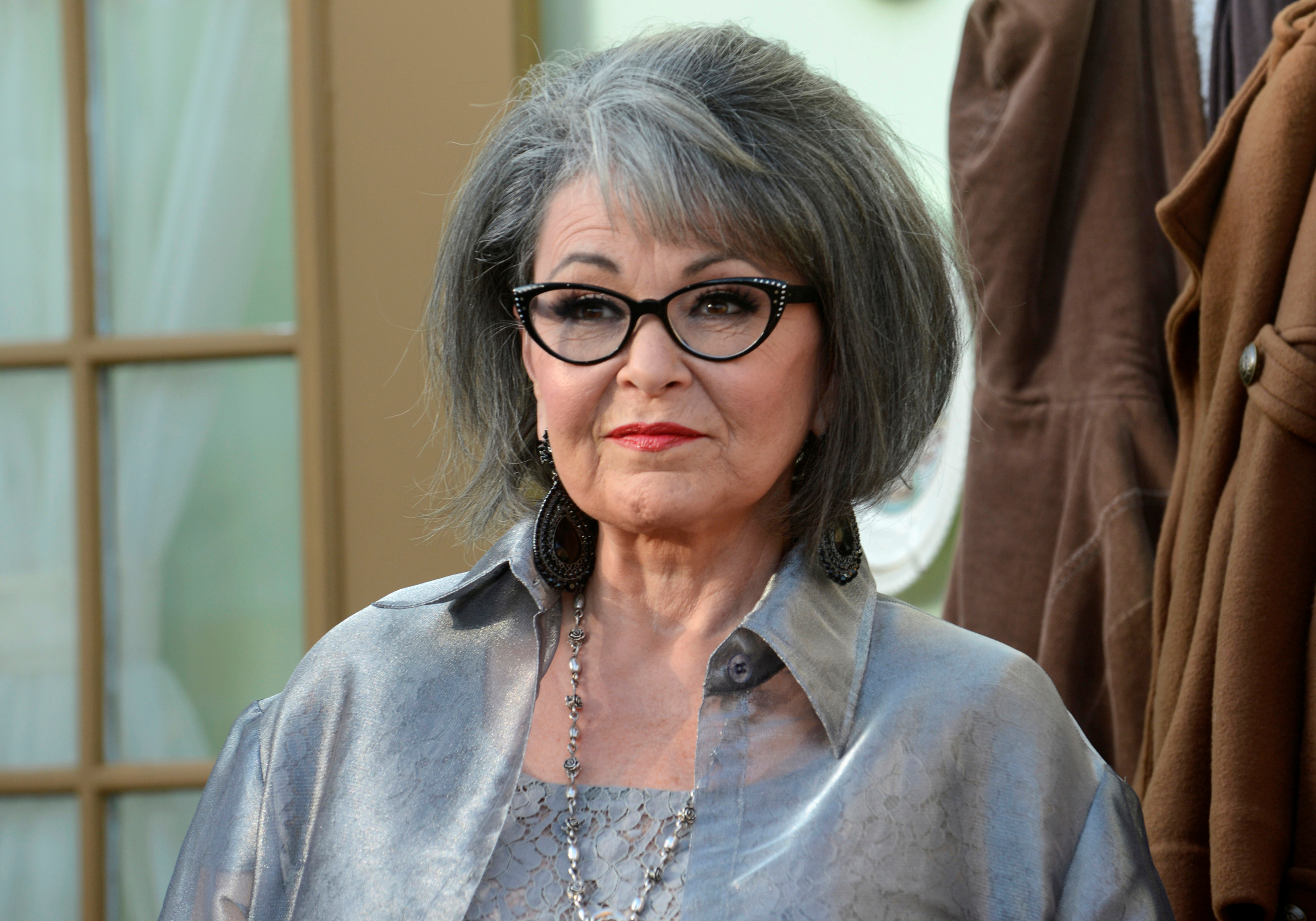 Actress Rosanne Barr arrives for the taping of the Comedy Central Roast of Roseanne in Los Angeles, Aug. 4, 2012.