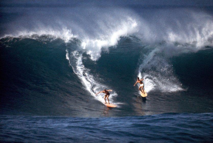 Surfing in Hawaii, 1963.