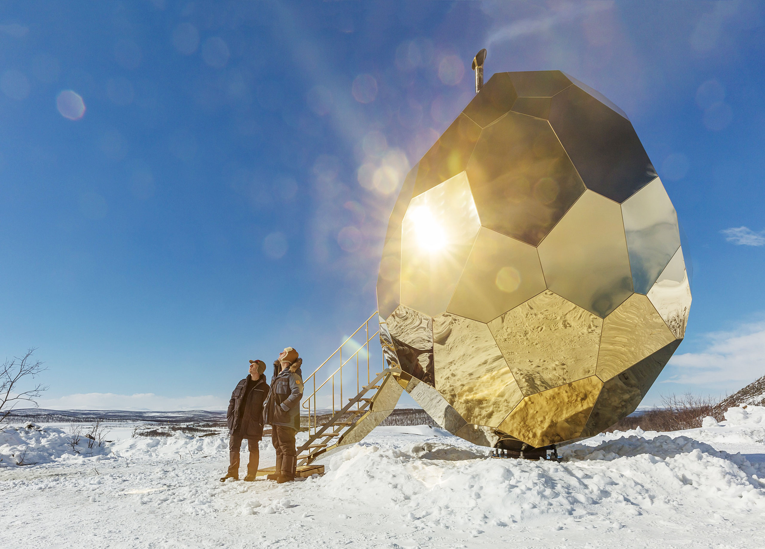 Riksbyggen is commemorating the start of Kiruna's urban transformation project by opening SOLAR EGG, a public sauna art installation by prizewinning artistic duo Bigert & Bergström, to the city and its inhabitants.