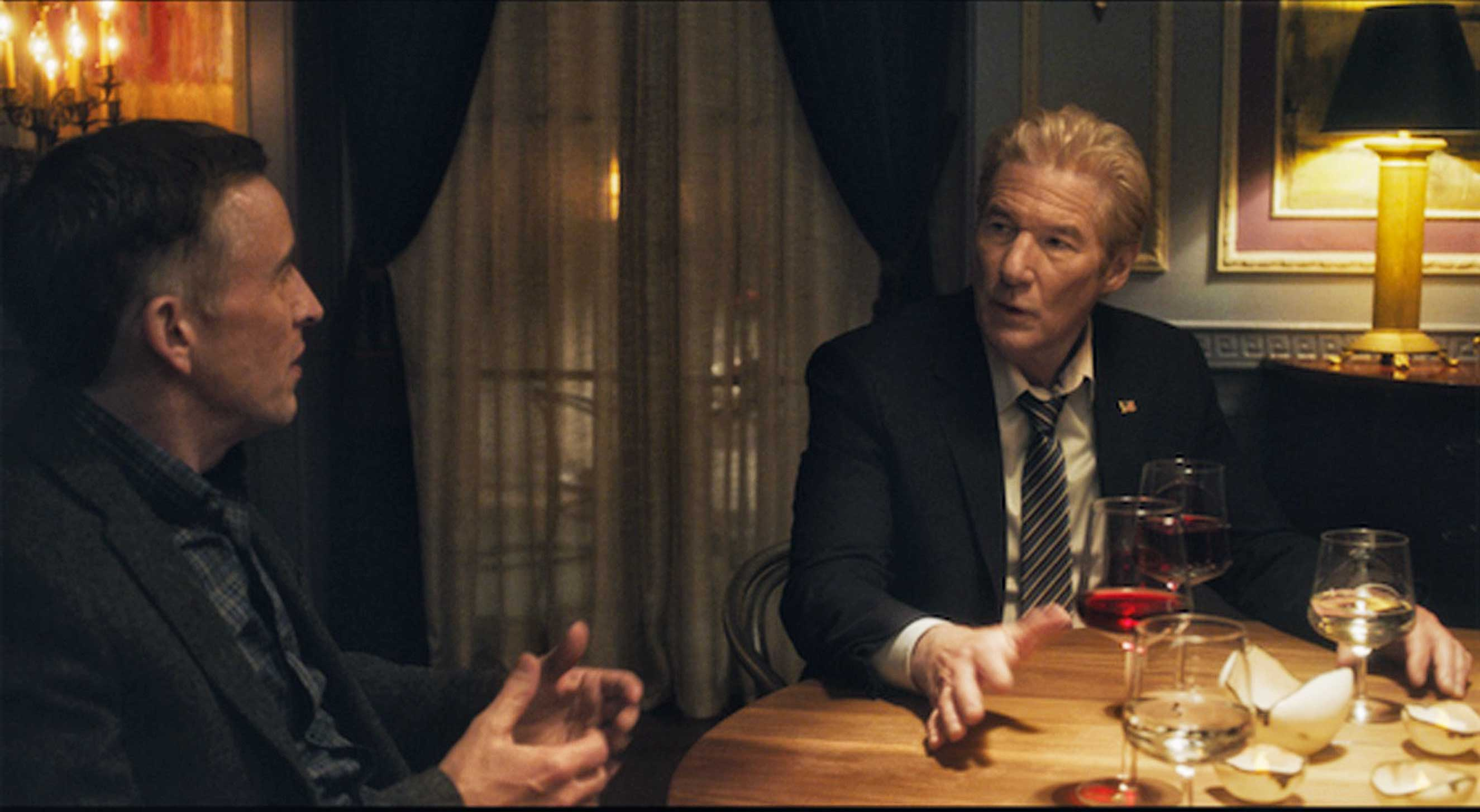 Coogan and Gere as brothers in The Dinner: blood is thicker than water, and wine too