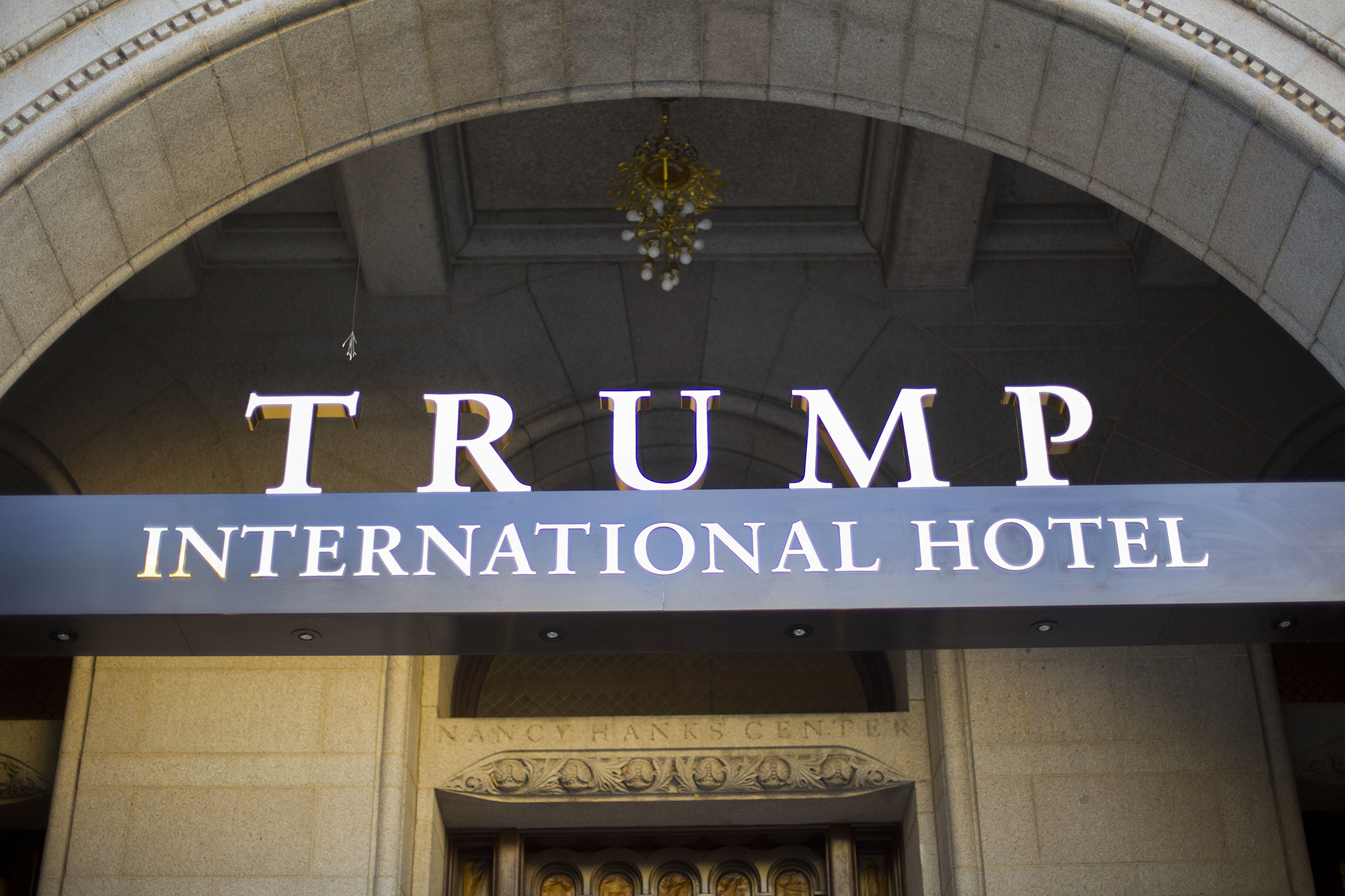The exterior of the Trump International Hotel in downtown Washington. (AP)