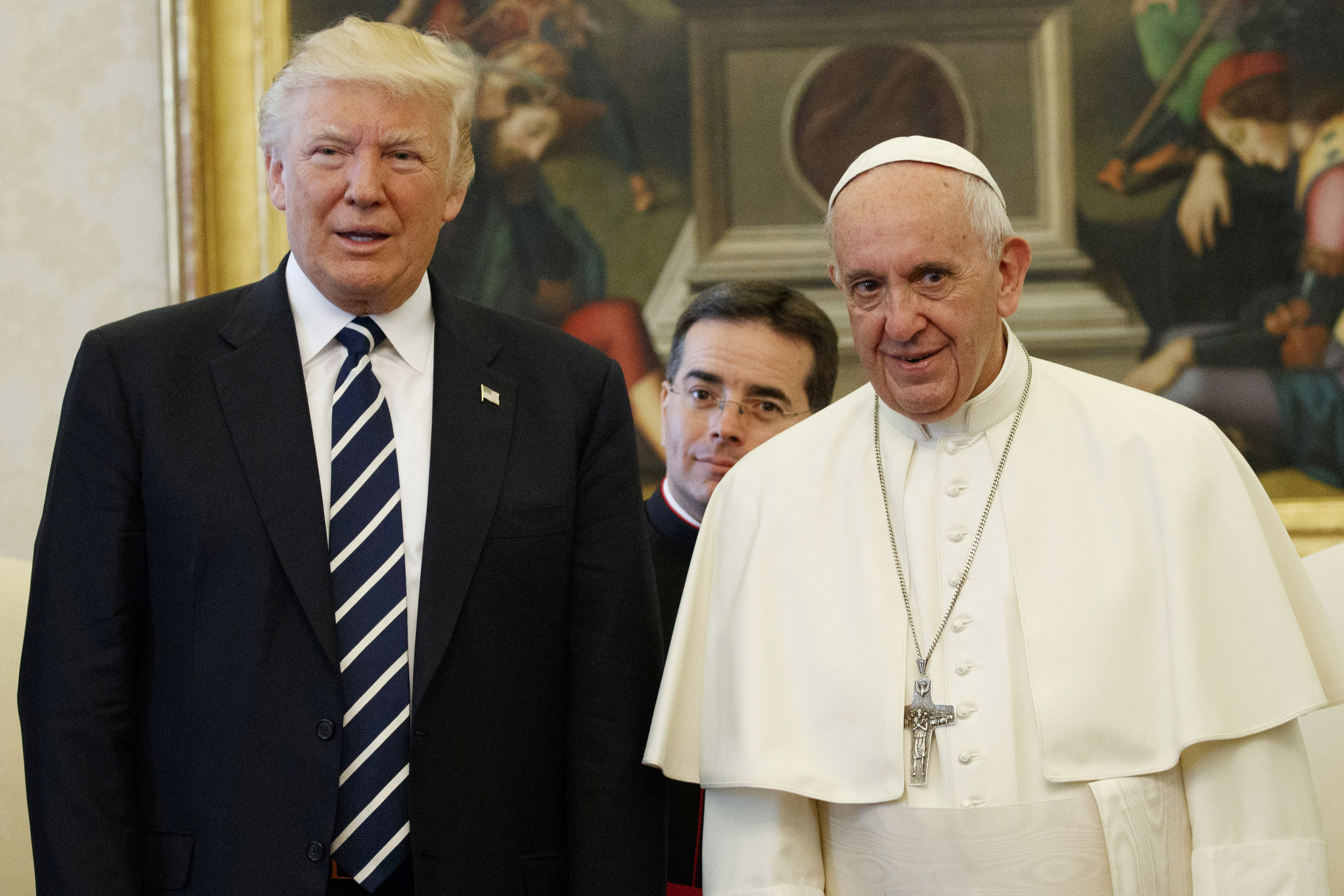 President Trump and Pope Francis meet at the Vatican, May 24, 2017.