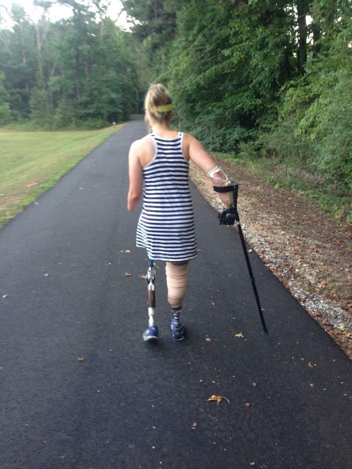 Copeland after her surgeries.