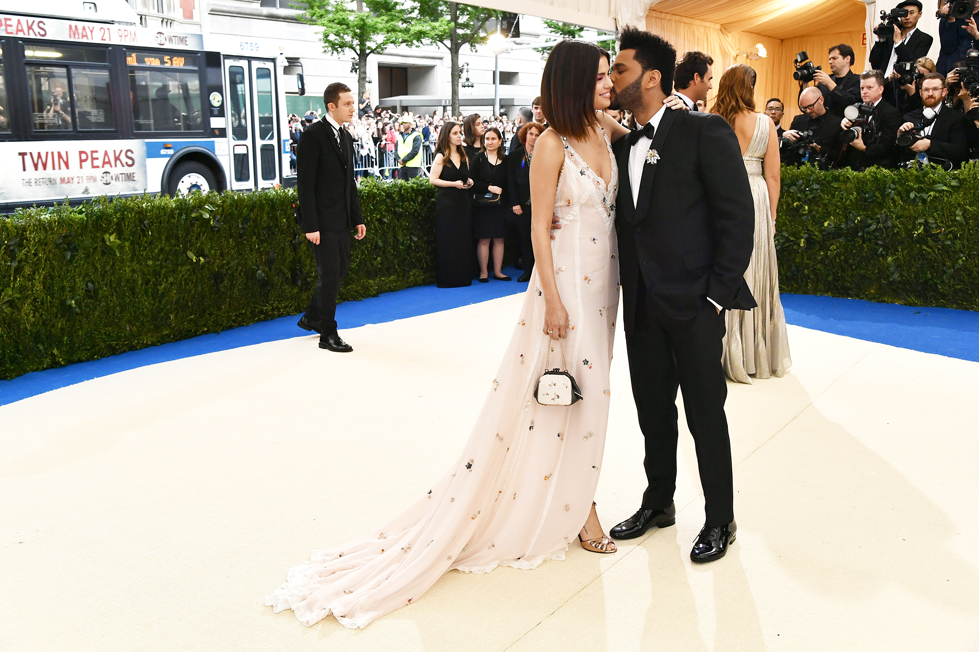 Selena Gomez and The Weeknd attend the  Rei Kawakubo/Comme des Garcons: Art Of The In-Between  Costume Institute Gala at Metropolitan Museum of Art in New York City, on May 1, 2017.