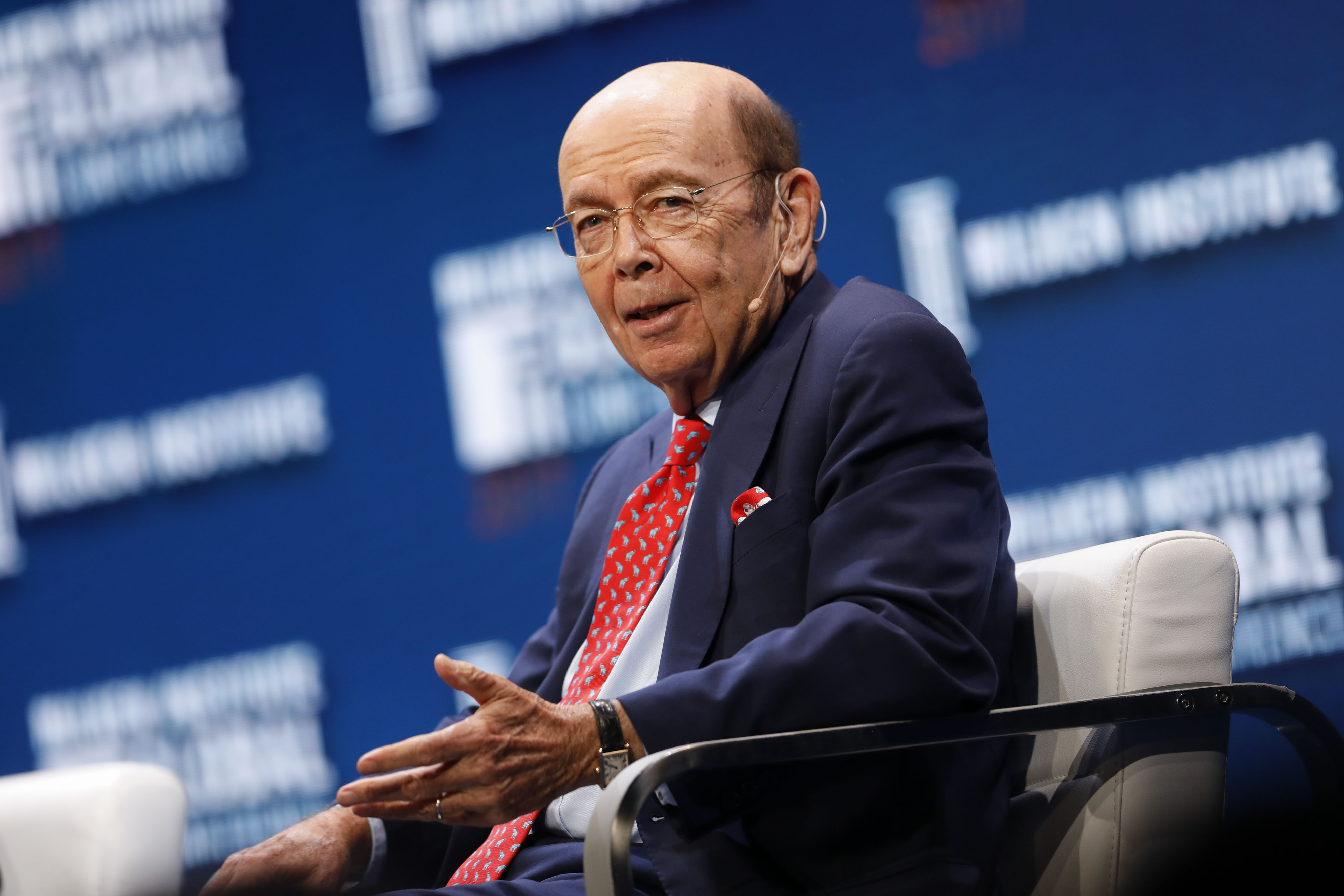 Wilbur Ross, U.S. secretary of commerce, speaks during the Milken Institute Global Conference in Beverly Hills, California, U.S., on Monday, May 1, 2017.