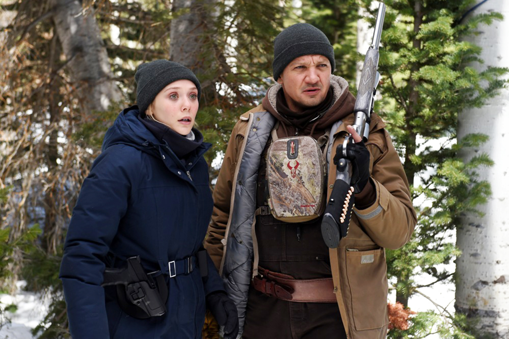 Elizabeth Olsen and Jeremy Renner star in Wind River Photo: Fred Hayes © 2017 The Weinstein Company. All Rights Reserved