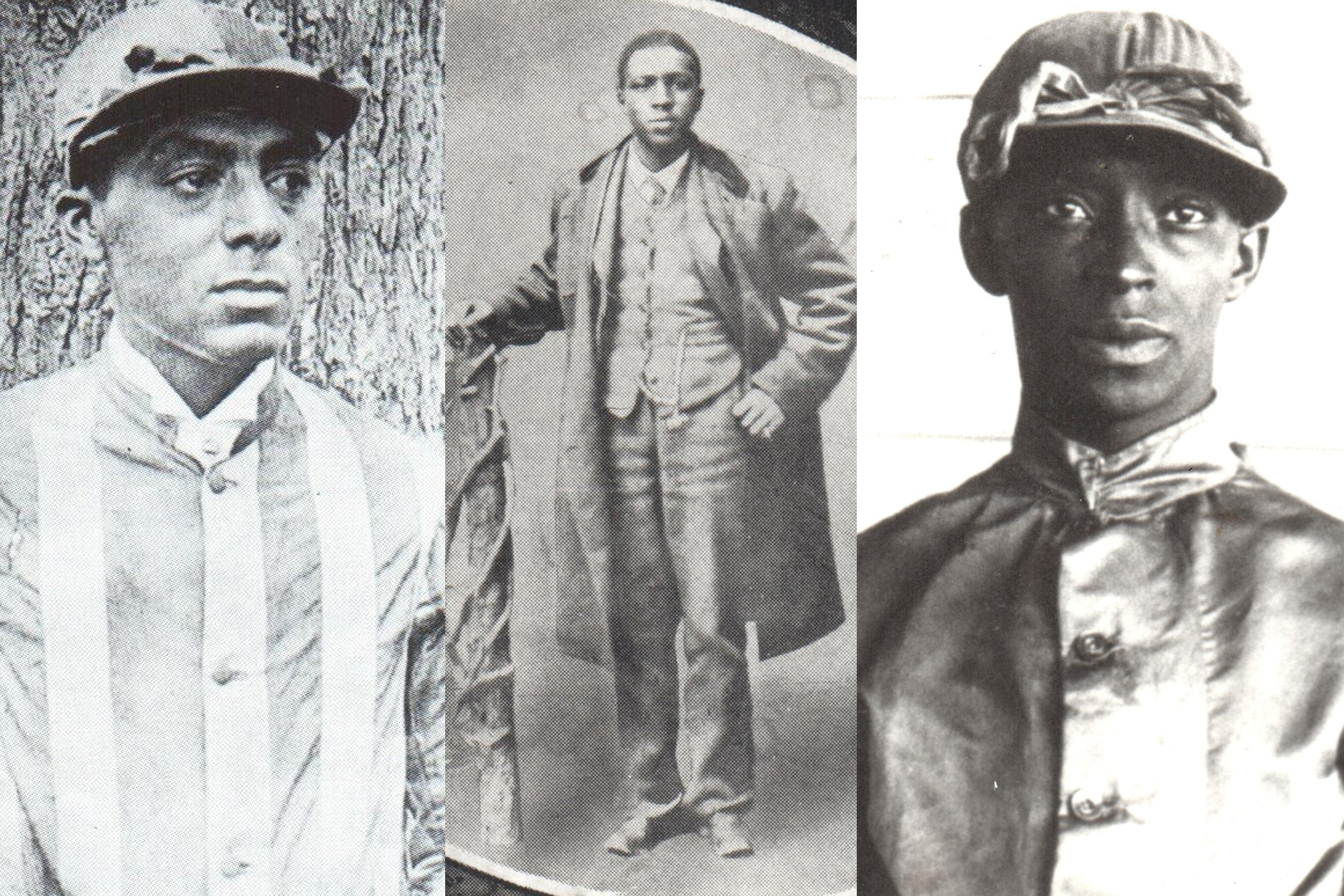 (L-R) Isaac Murphy, Oliver Lewis, Jimmy Winkfield—African-American jockeys dominated the Kentucky Derby in its early years.