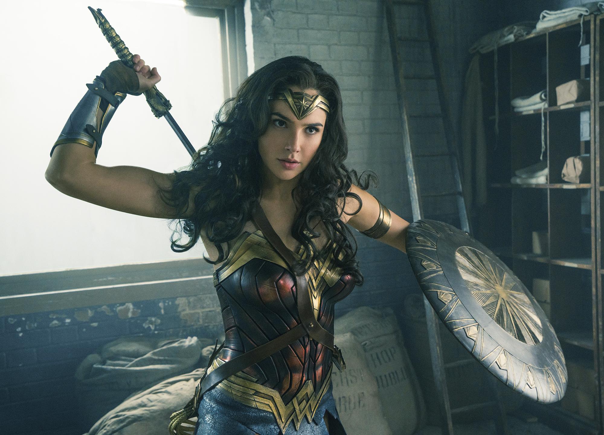 Gal Gadot in Wonder Woman.