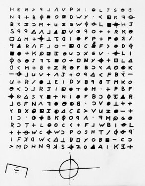 This is a copy of a cryptogram sent to the San Francisco Chronicle, Nov. 11, 1969.
