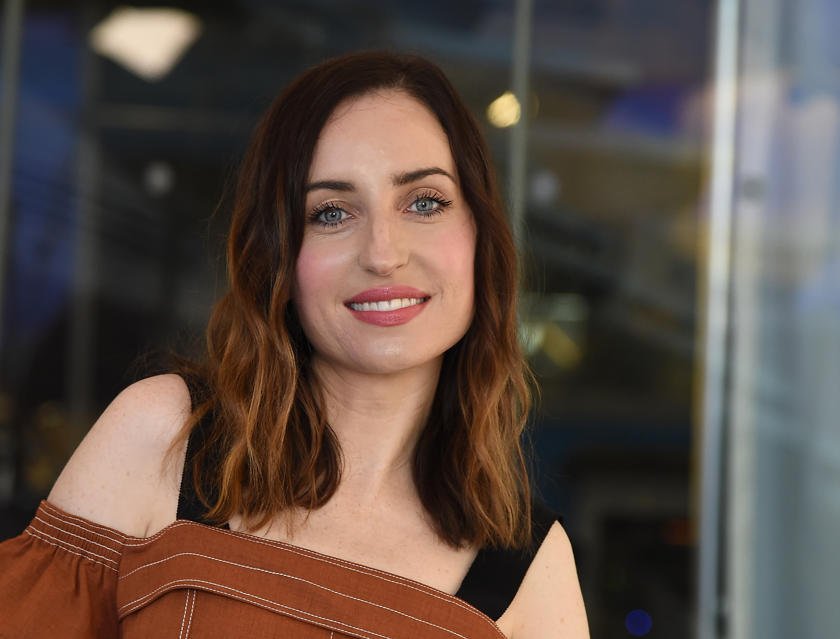 Zoe Lister-Jones visits the SiriusXM Studios on May 19, 2017 in New York City.